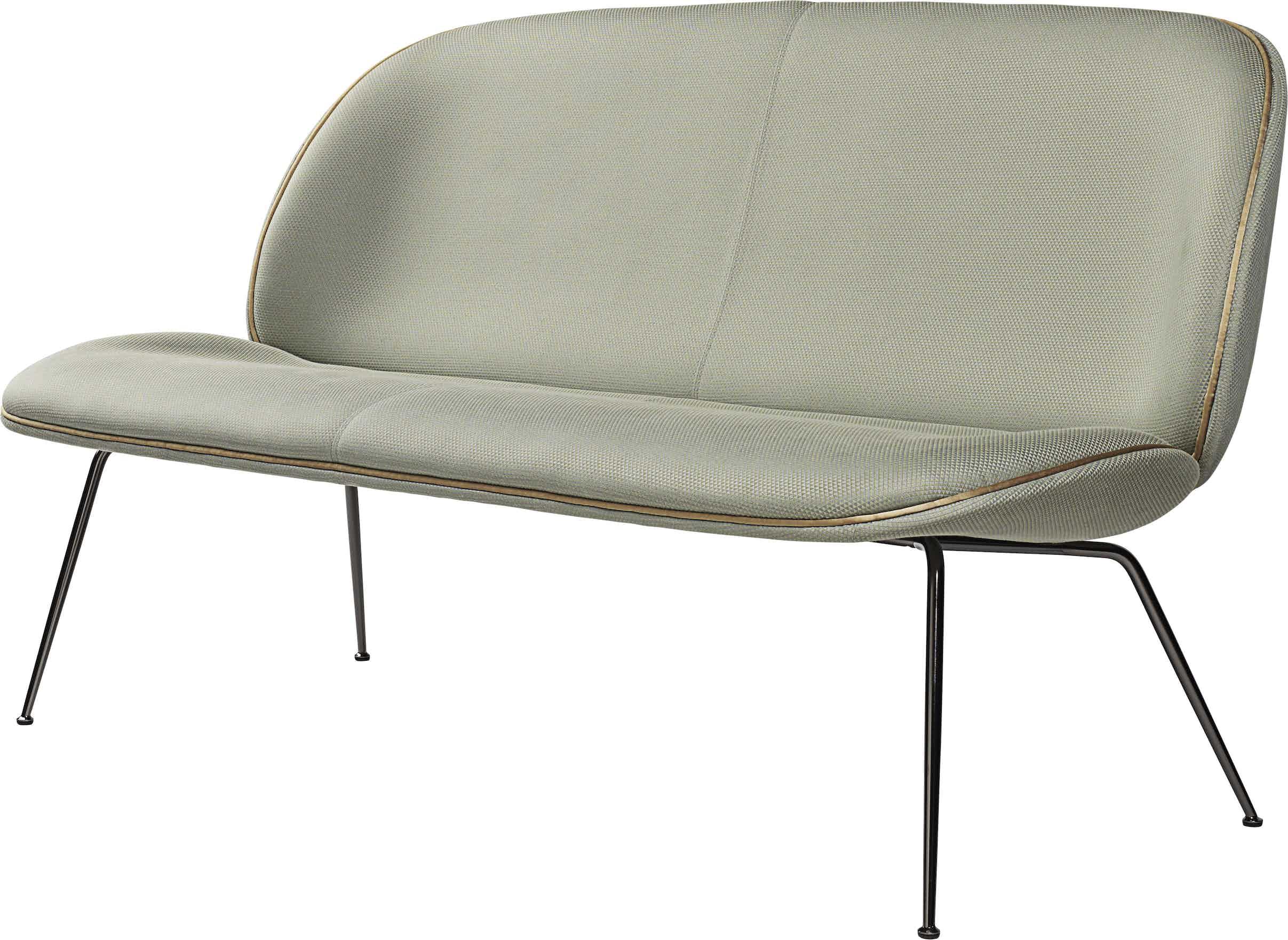 Gubi Beetle Sofa Grey Angle Haute Living