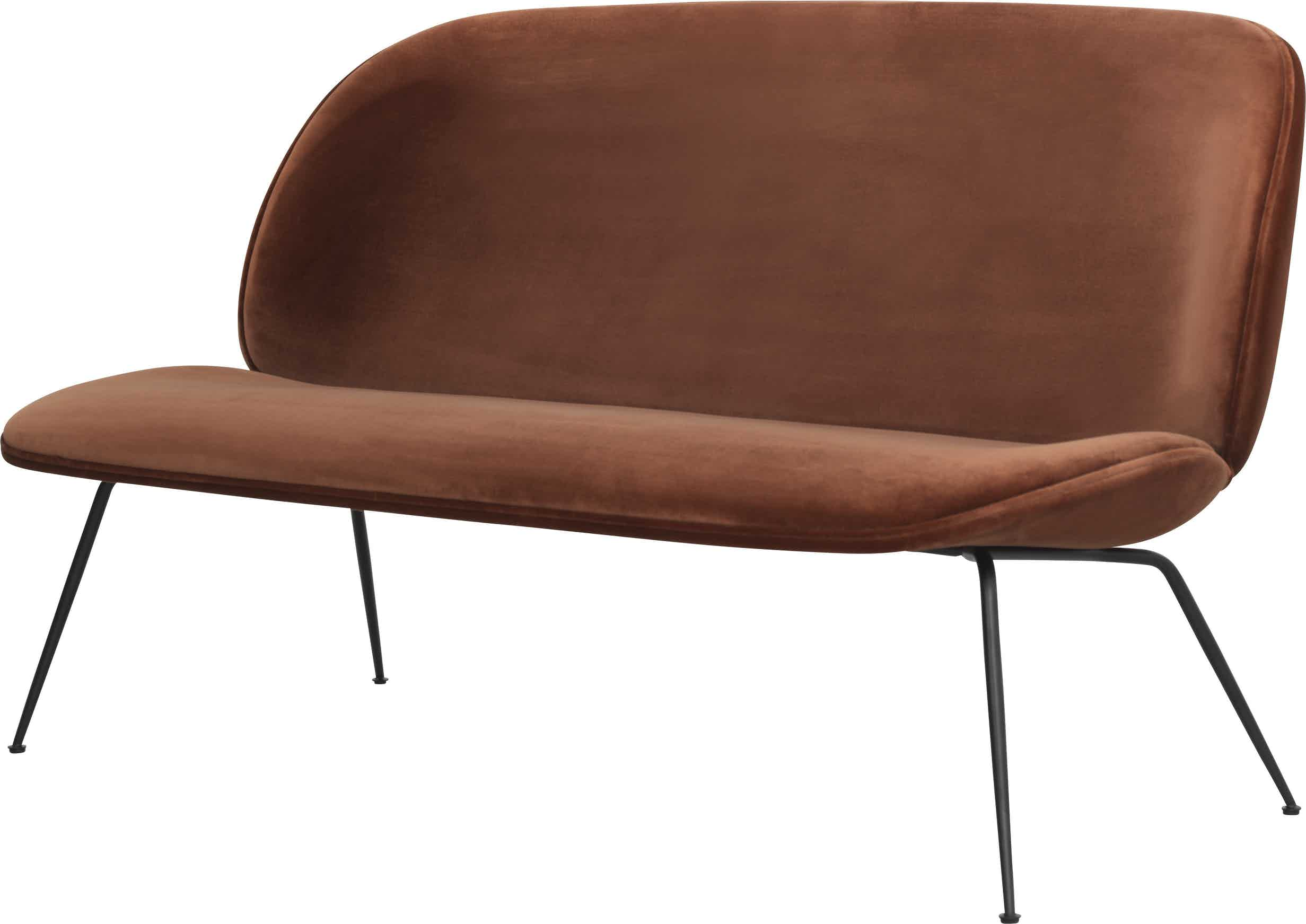 Gubi Beetle Sofa Red Angle Haute Living