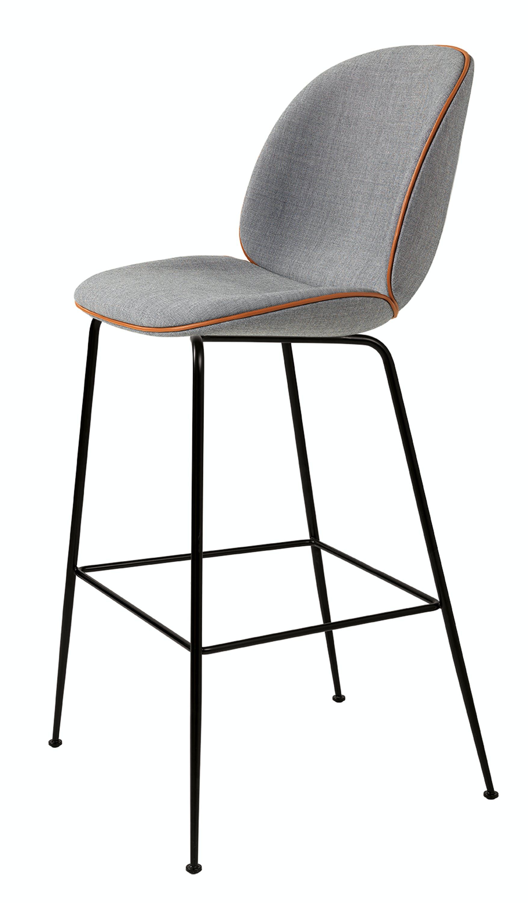 Beetle Stool Grey With Brown Leather Front 72Dpi Rgb Product