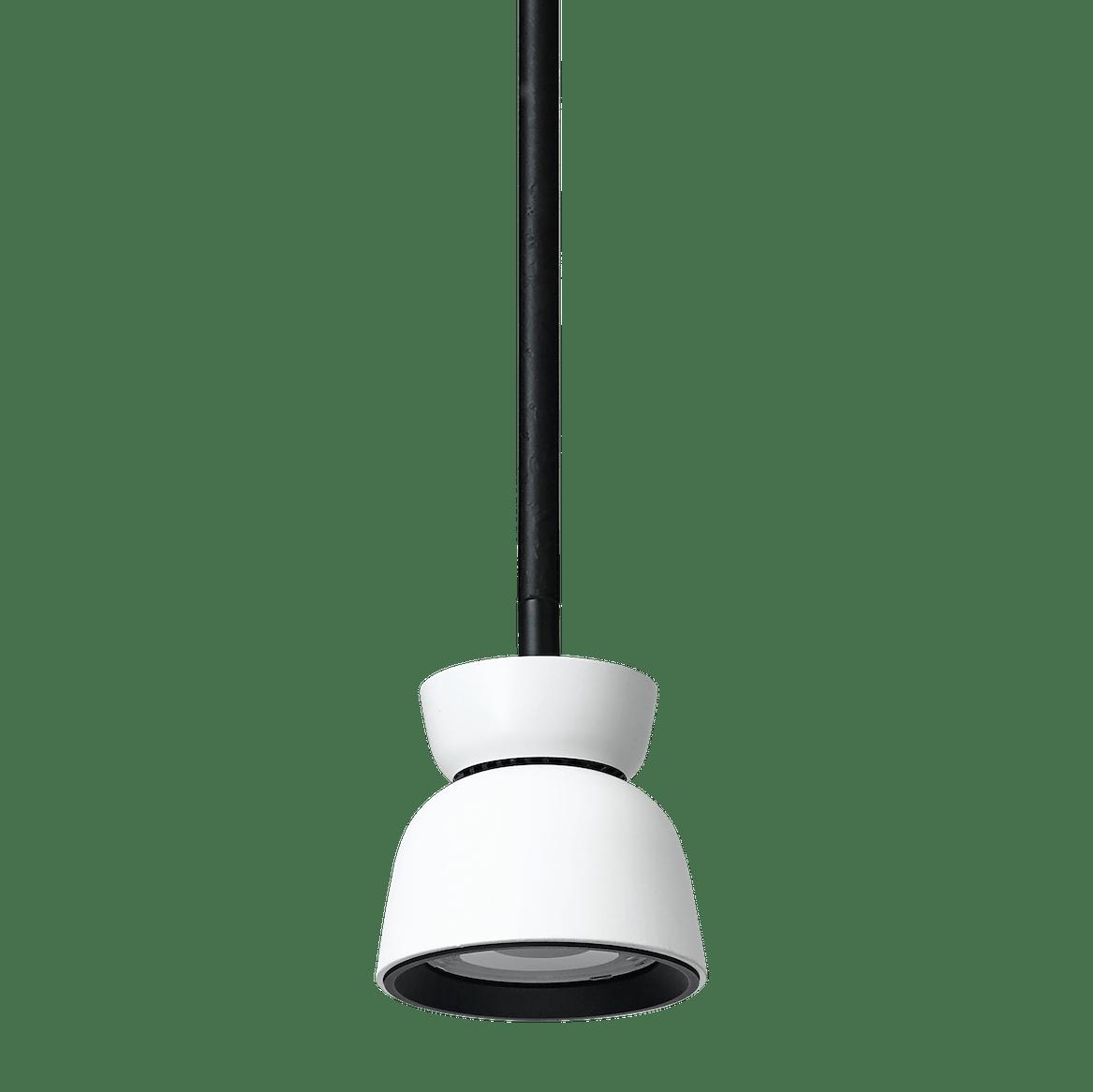 Ago lighting bell pendant white down haute living