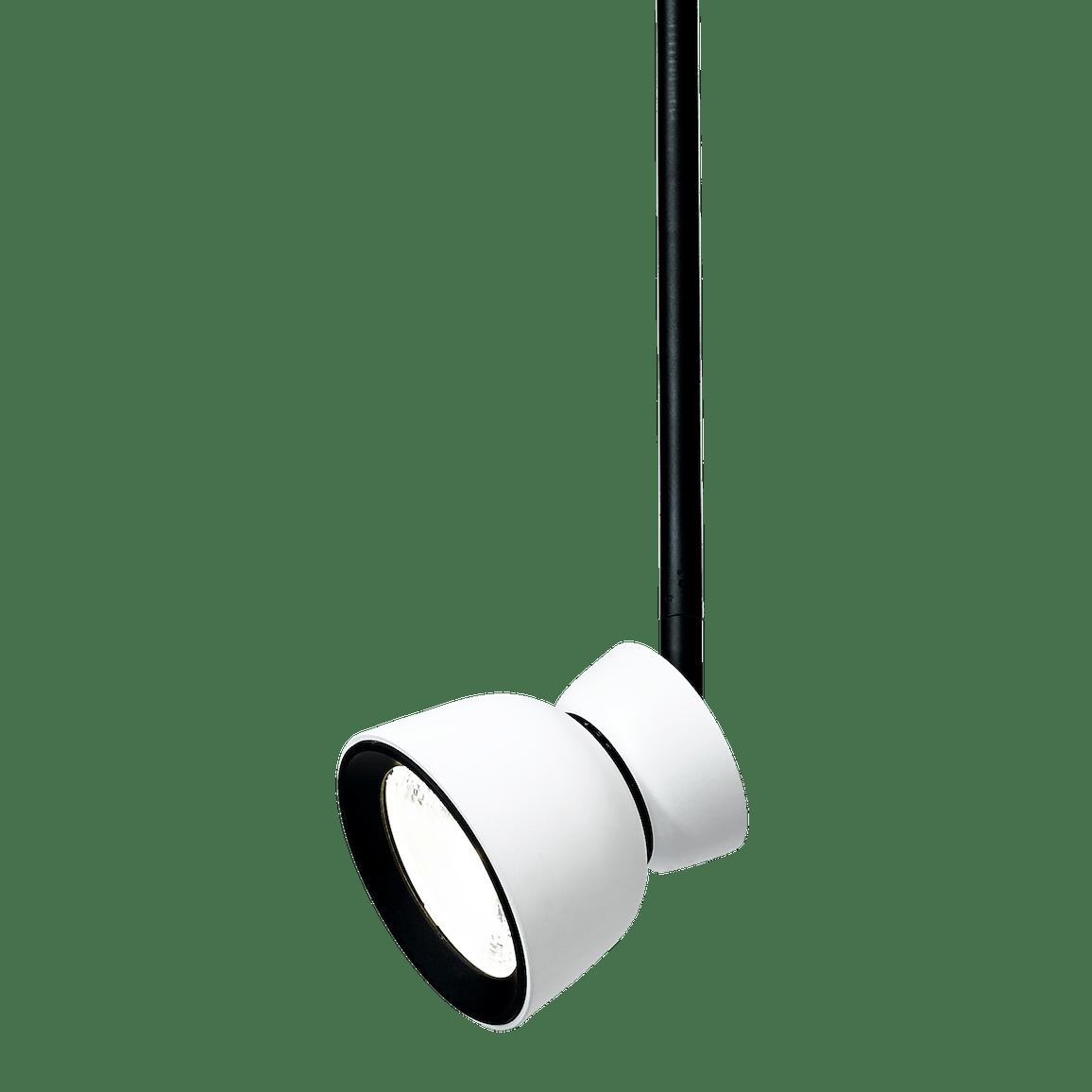 Ago lighting bell pendant white lit haute living