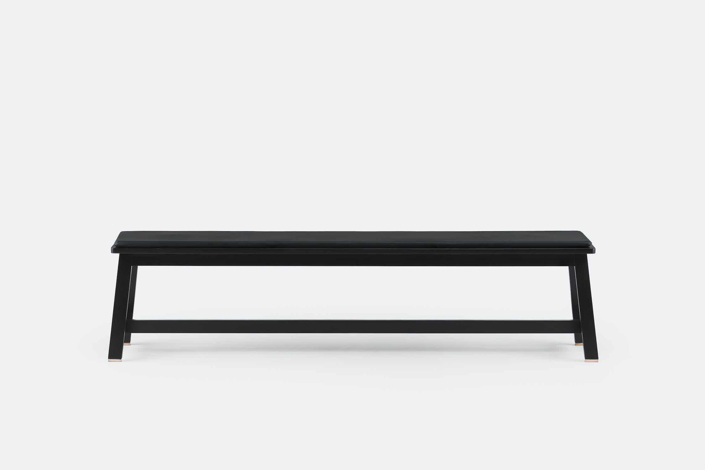 De La Espada Studioilse Bench Black Front Haute Living