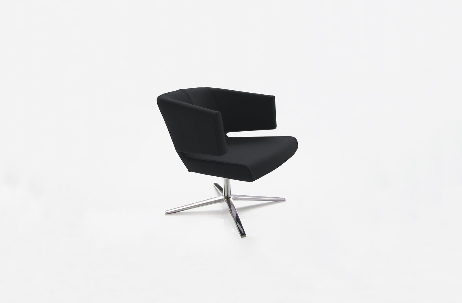 Bensen Black Lotus Chair Front Angle