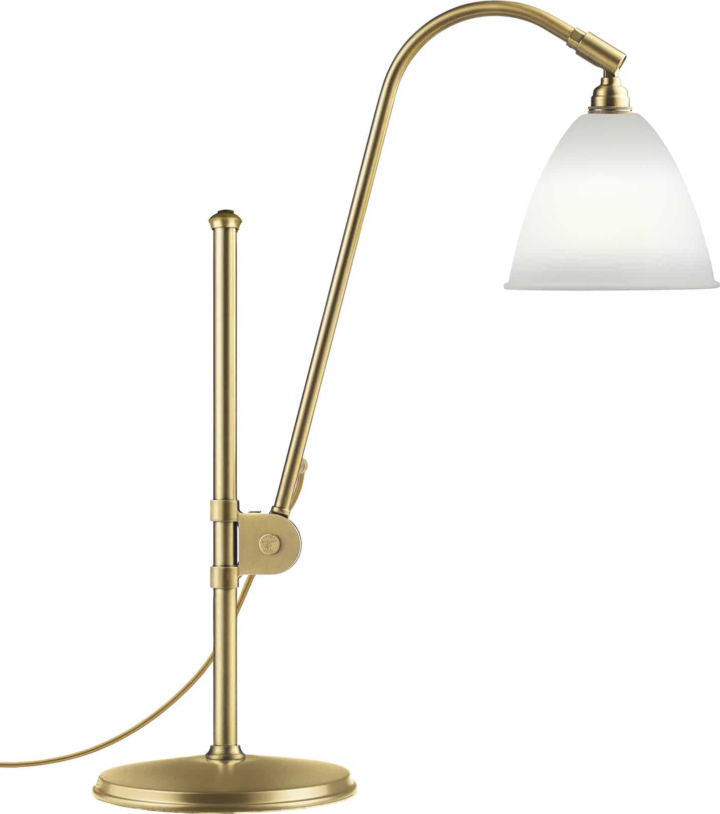Gubi Bl1 Table Lamp Brass Bone China Haute Living