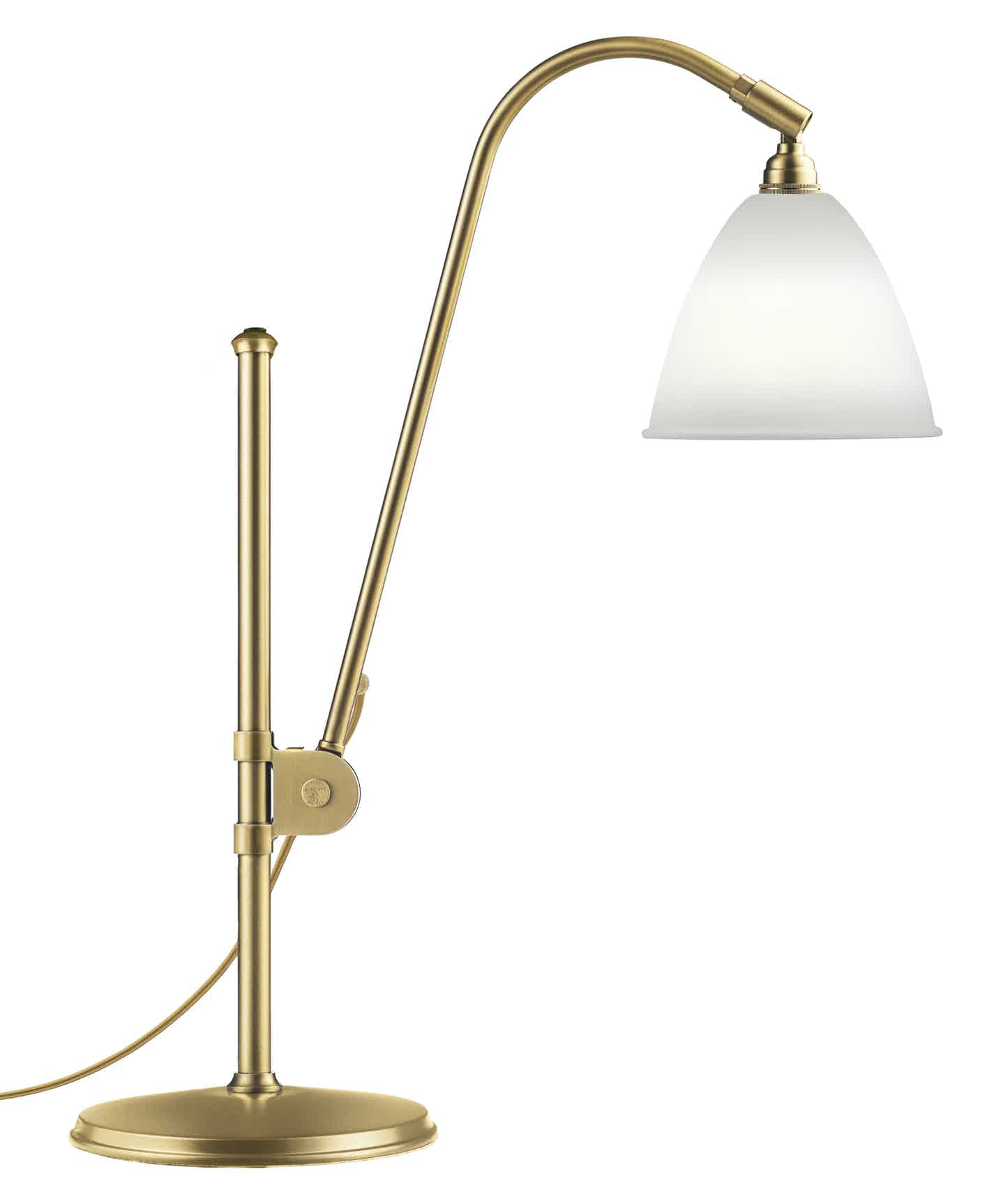 Gubi Bl1 Table Lamp Brass Bone China Thumb Haute Living