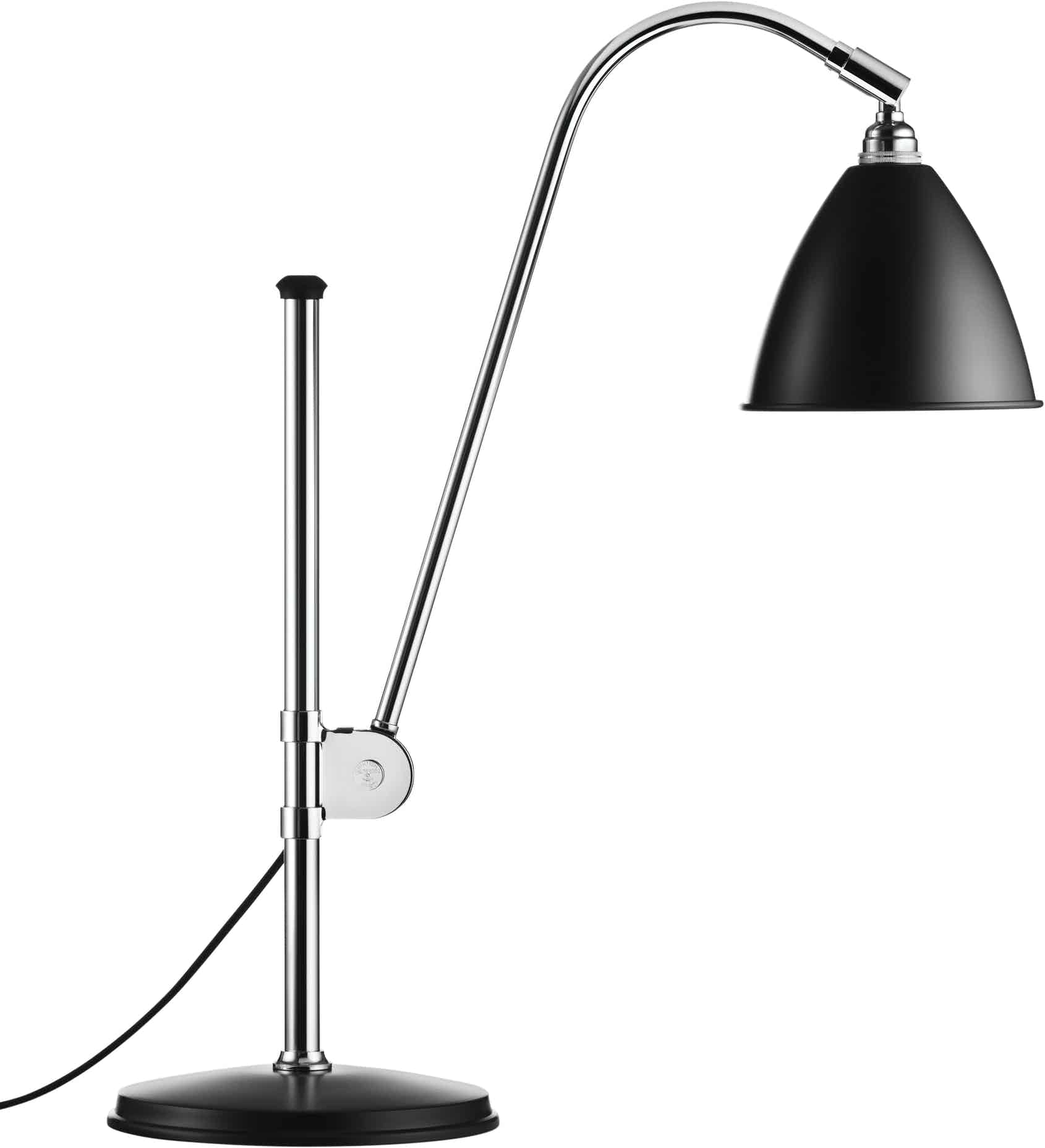 Gubi Bl1 Table Lamp Chrome Black Haute Living