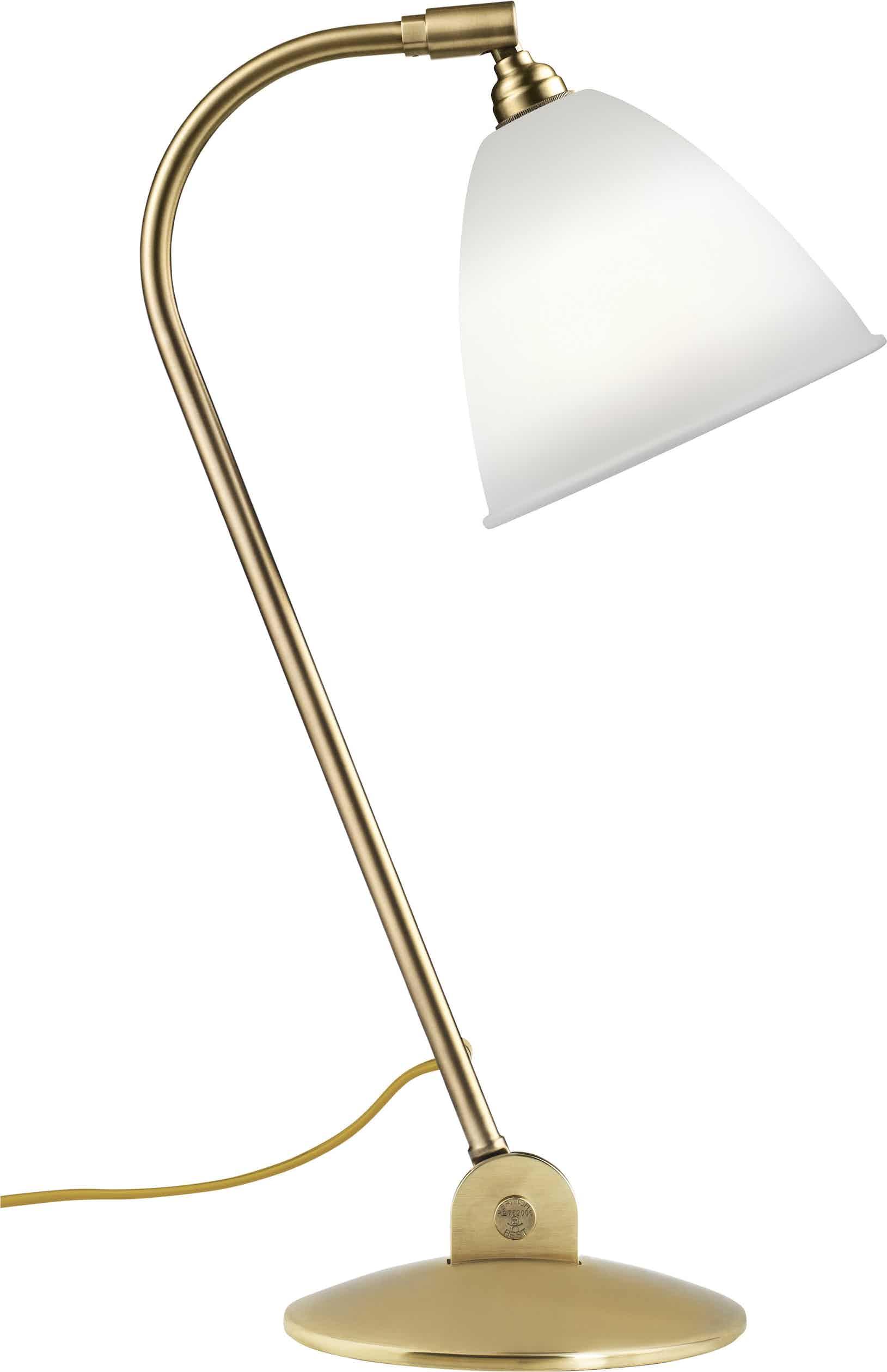 Gubi Bl2 Table Lamp Brass Bone China Haute Living