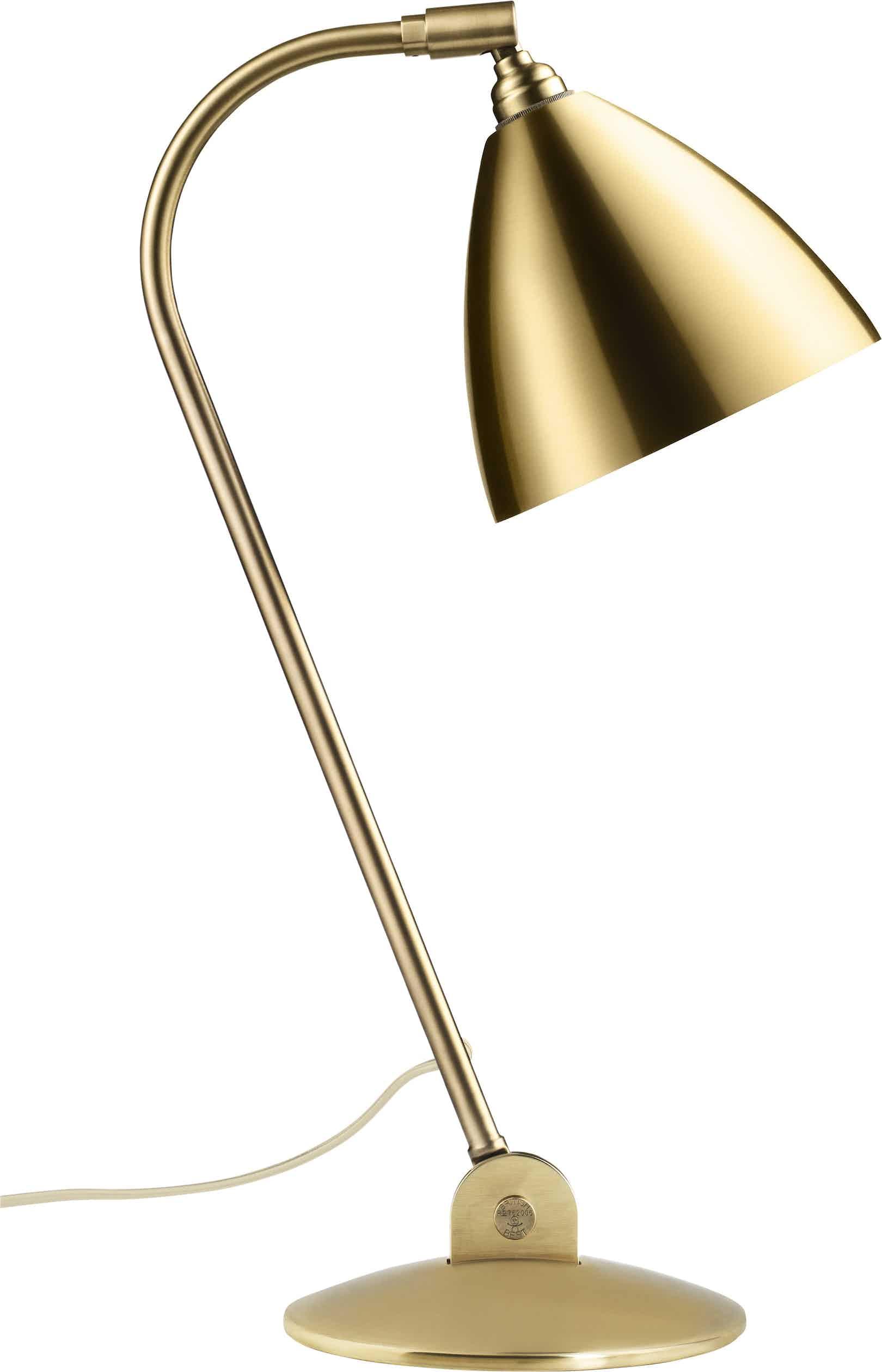 Gubi Bl2 Table Lamp Brass Haute Living
