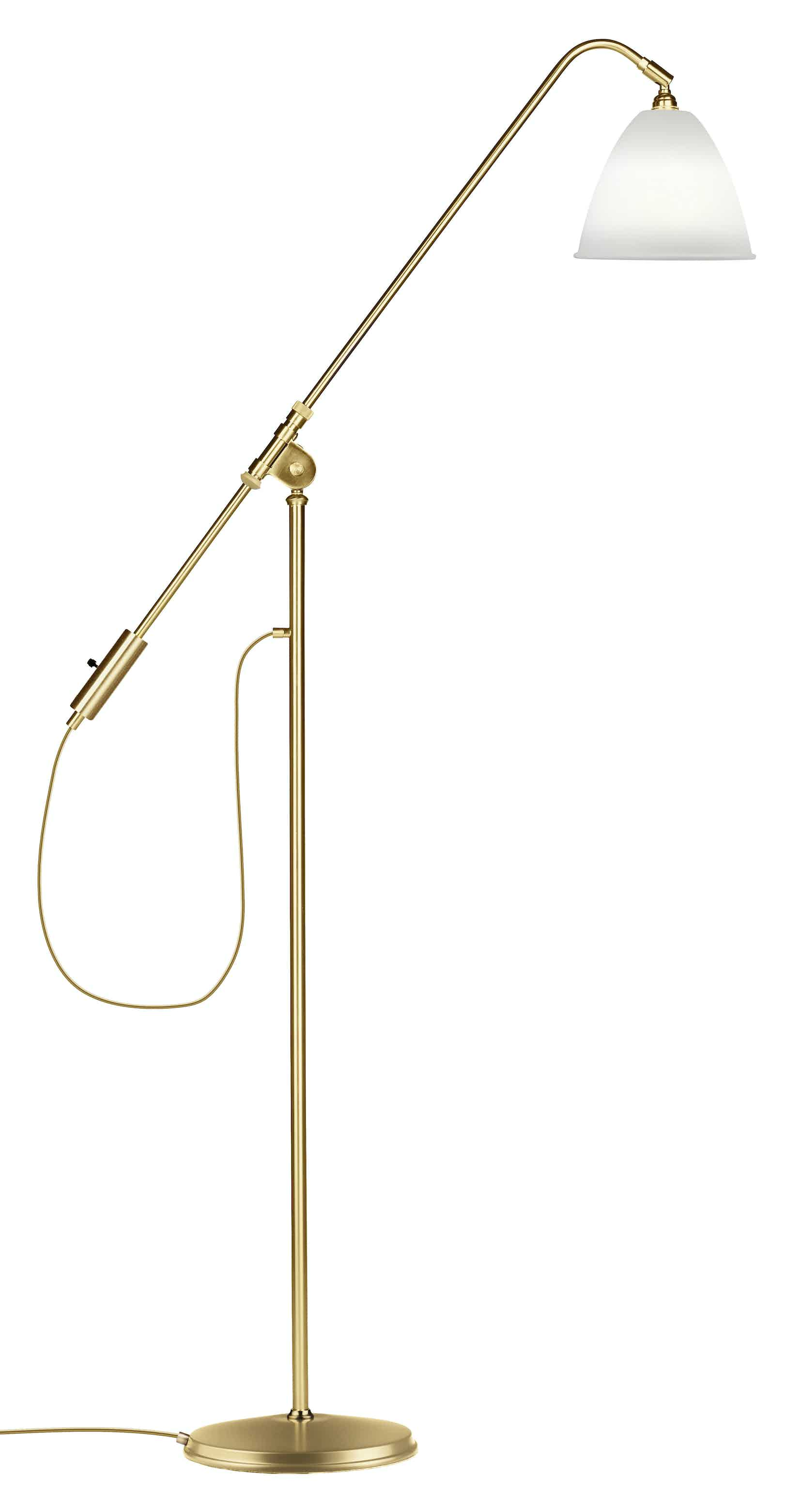 Gubi Bl4 Floor Lamp Brass Bone China Thumb Haute Living
