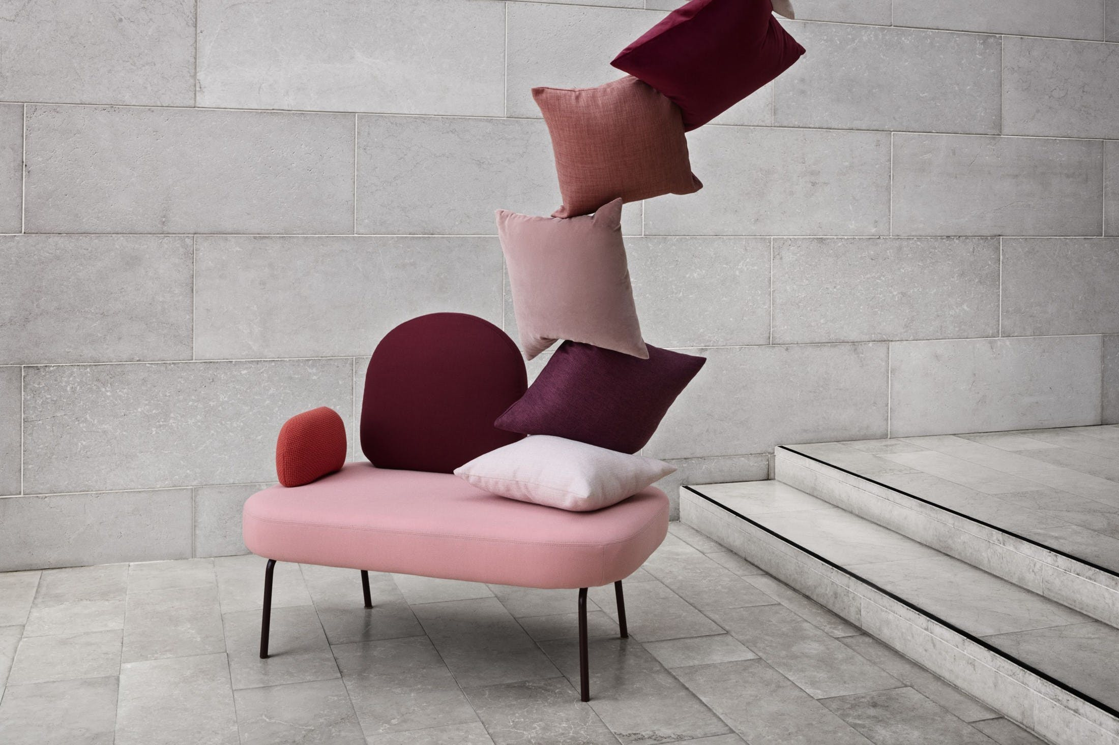 Bolia Pink Between Sofa Insitu Haute Living