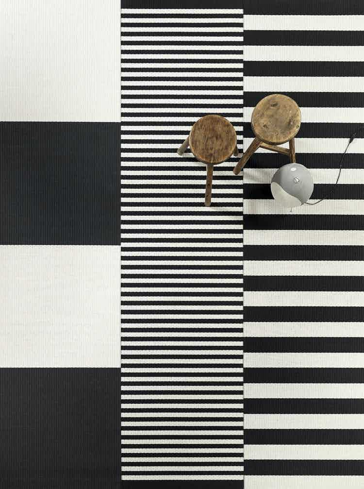 Woodnotes-big-stripe-carpet-black-white-insitu-haute-living