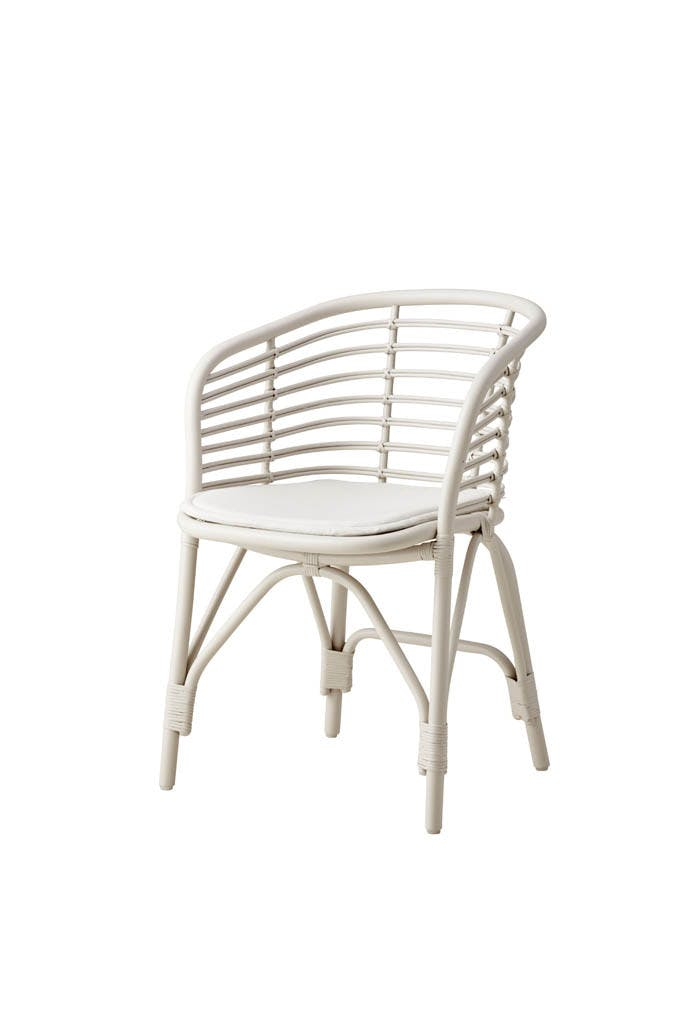 Blend Chair White W Cushion Offwhite 1