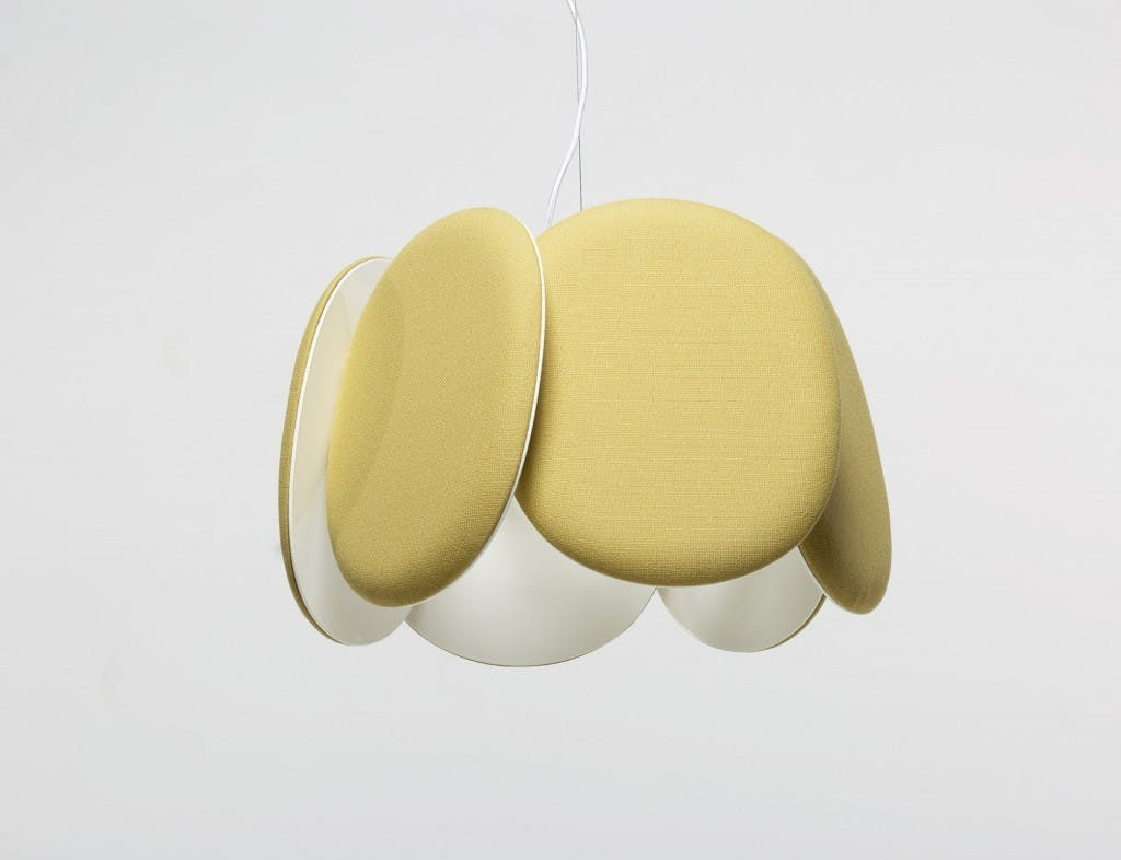 Bogaerts Label Yellow Blossom Acoustic Lamp Haute Living