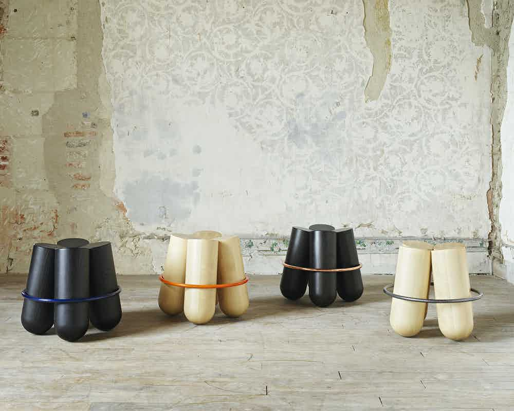 La-chance-furniture-bolt-stool-multiple-wallpaper-haute-living