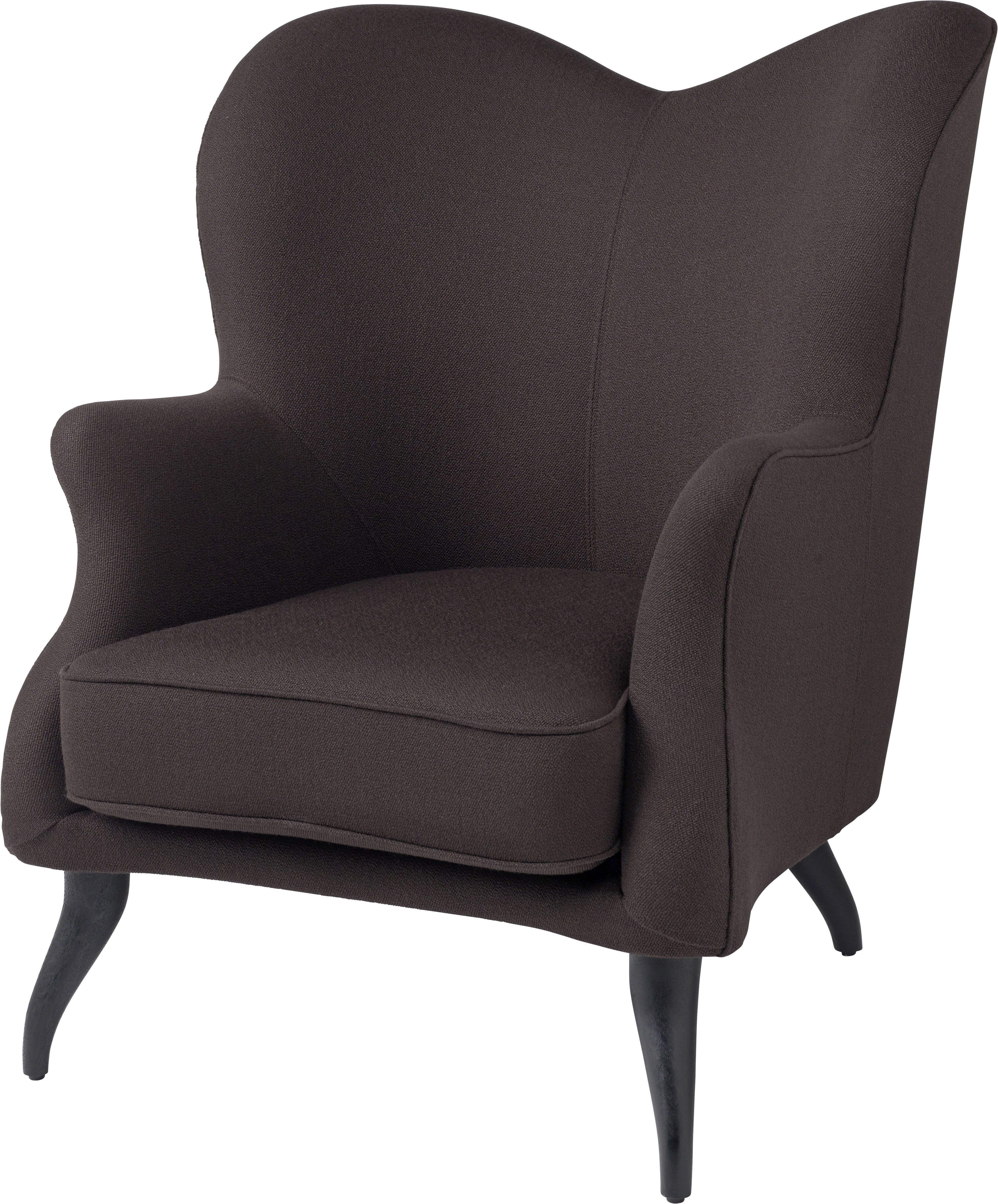 Gubi Bonaparte Lounge Black Angle Haute Living
