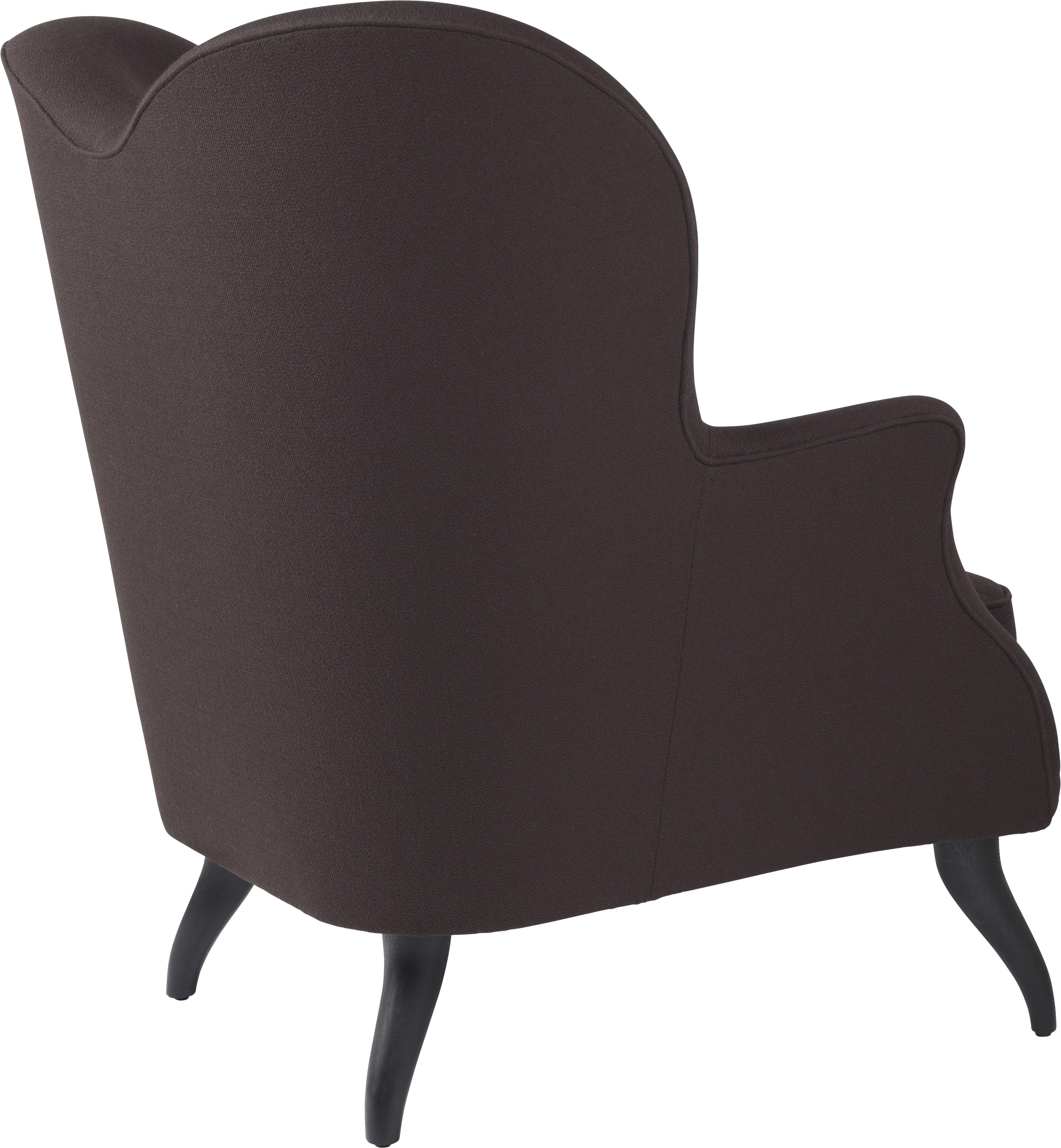 Gubi Bonaparte Lounge Black Back Haute Living