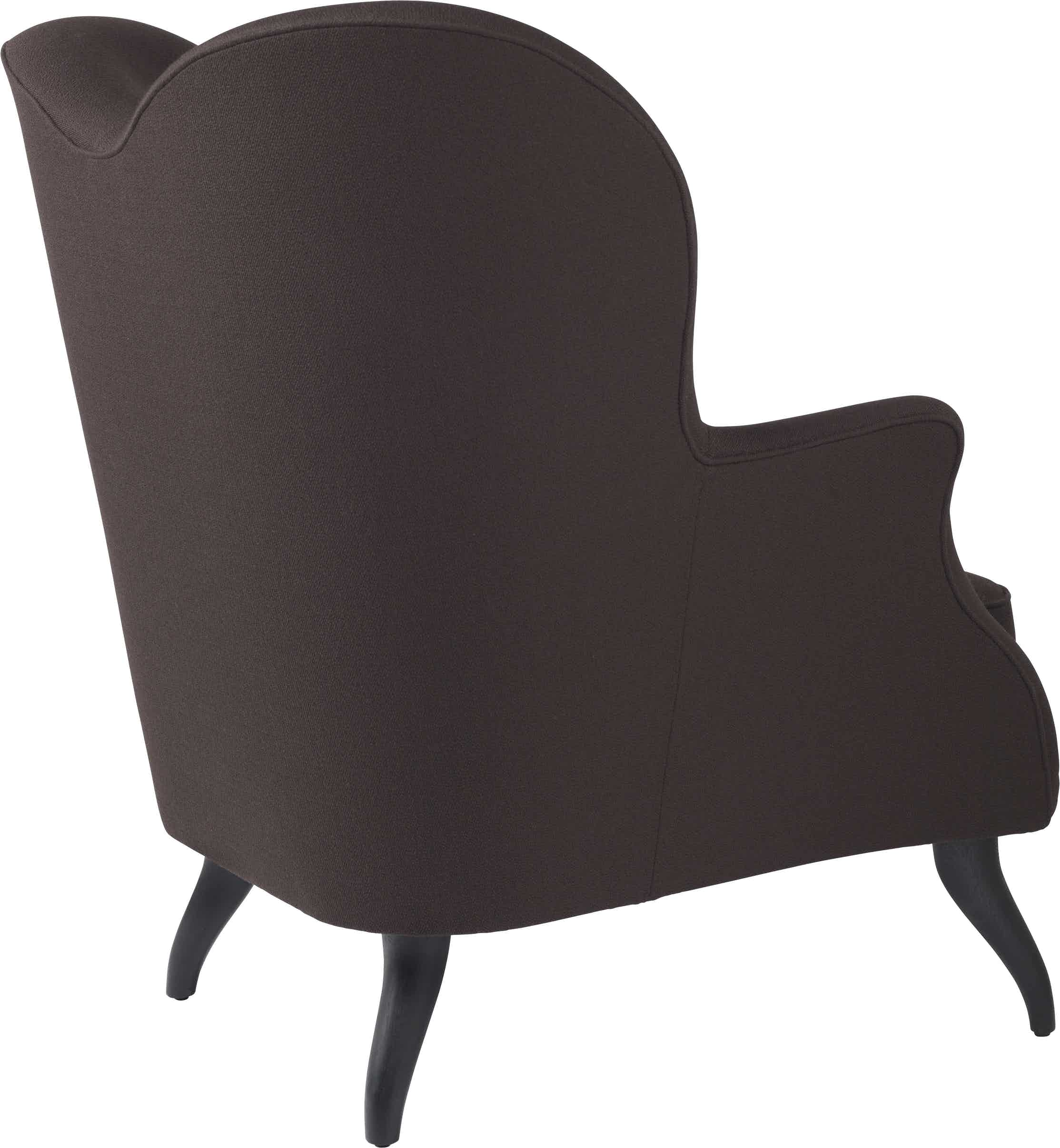 Gubi Bonaparte Lounge Black Back Haute Living