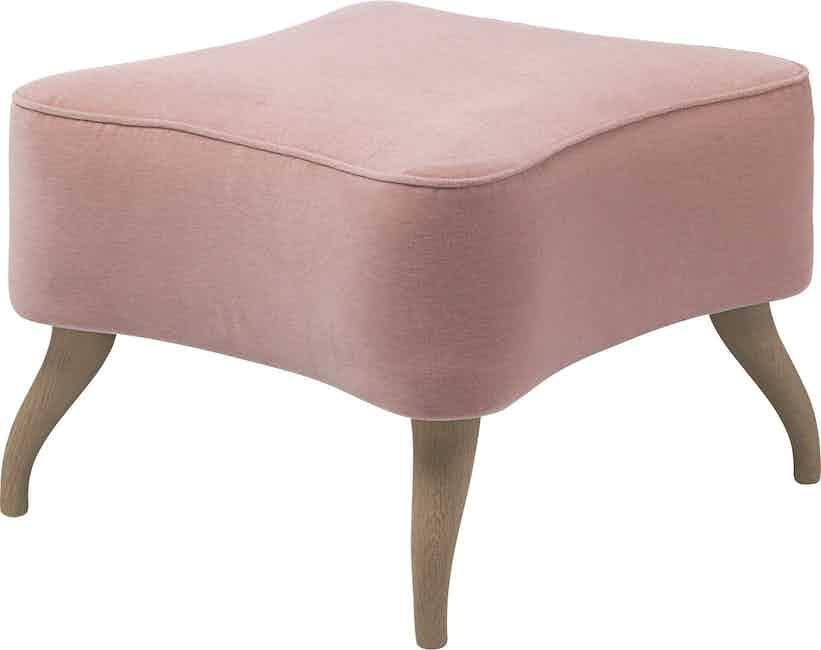 Gubi Bonaparte Ottoman Pink Angle Haute Living