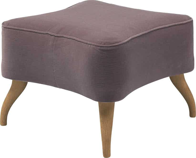 Gubi Bonaparte Ottoman Purple Angle Haute Living