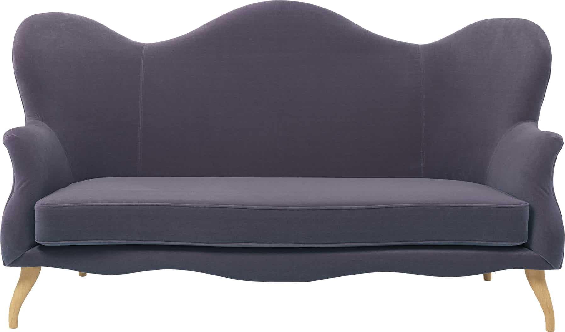 Gubi Bonaparte Sofa Purple Front Haute Living