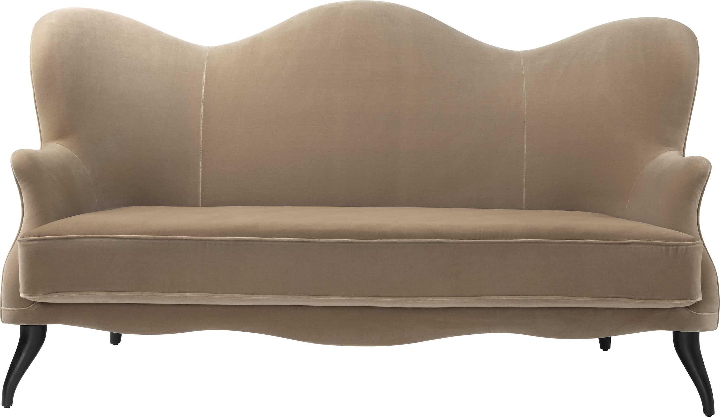 Gubi Bonaparte Sofa Sand Front Haute Living