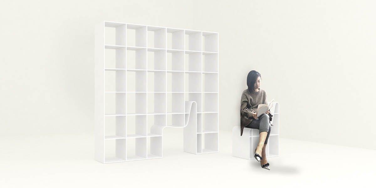 Bookchair By Sou Fujimoto Outside