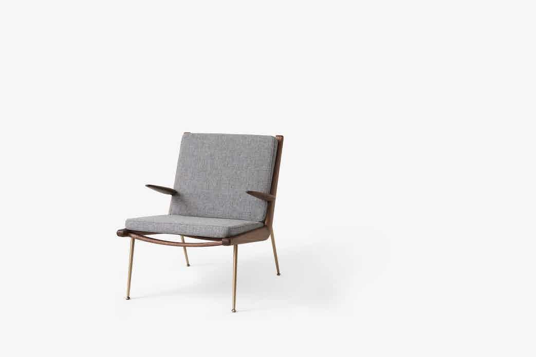 Andtradition boomerang lounge chair hm2 walnut hallingdal haute living
