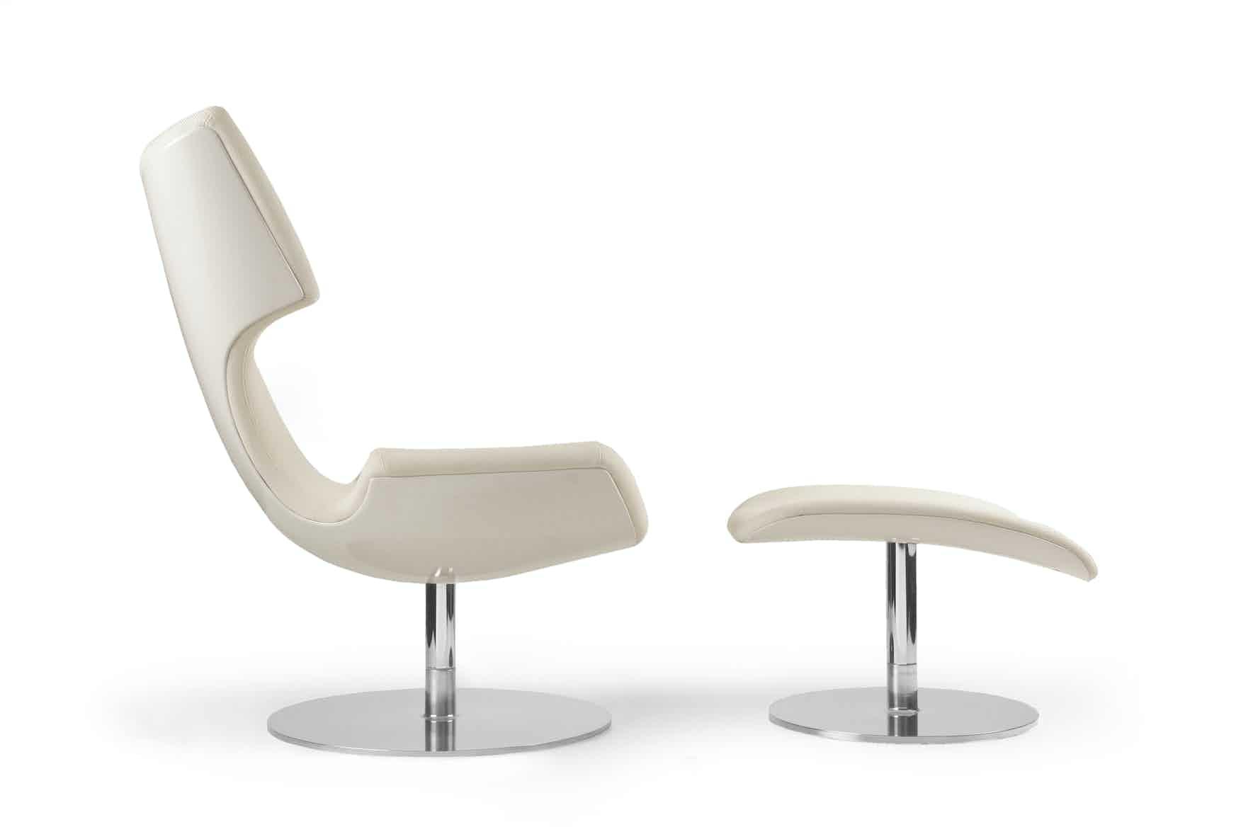 Artifort White Boson Chair Side