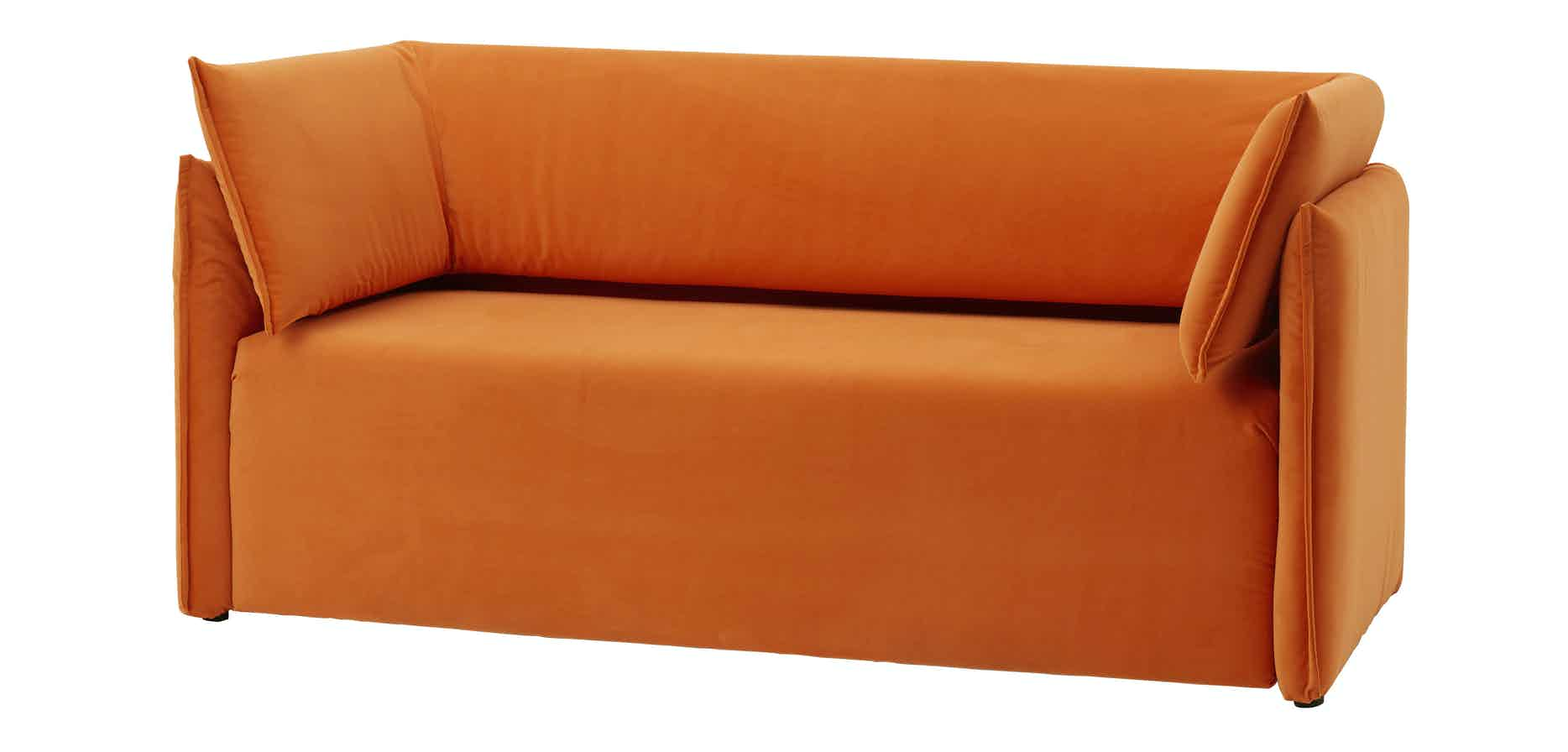 Articles-furniture-orange-boxlike-sofa-haute-living