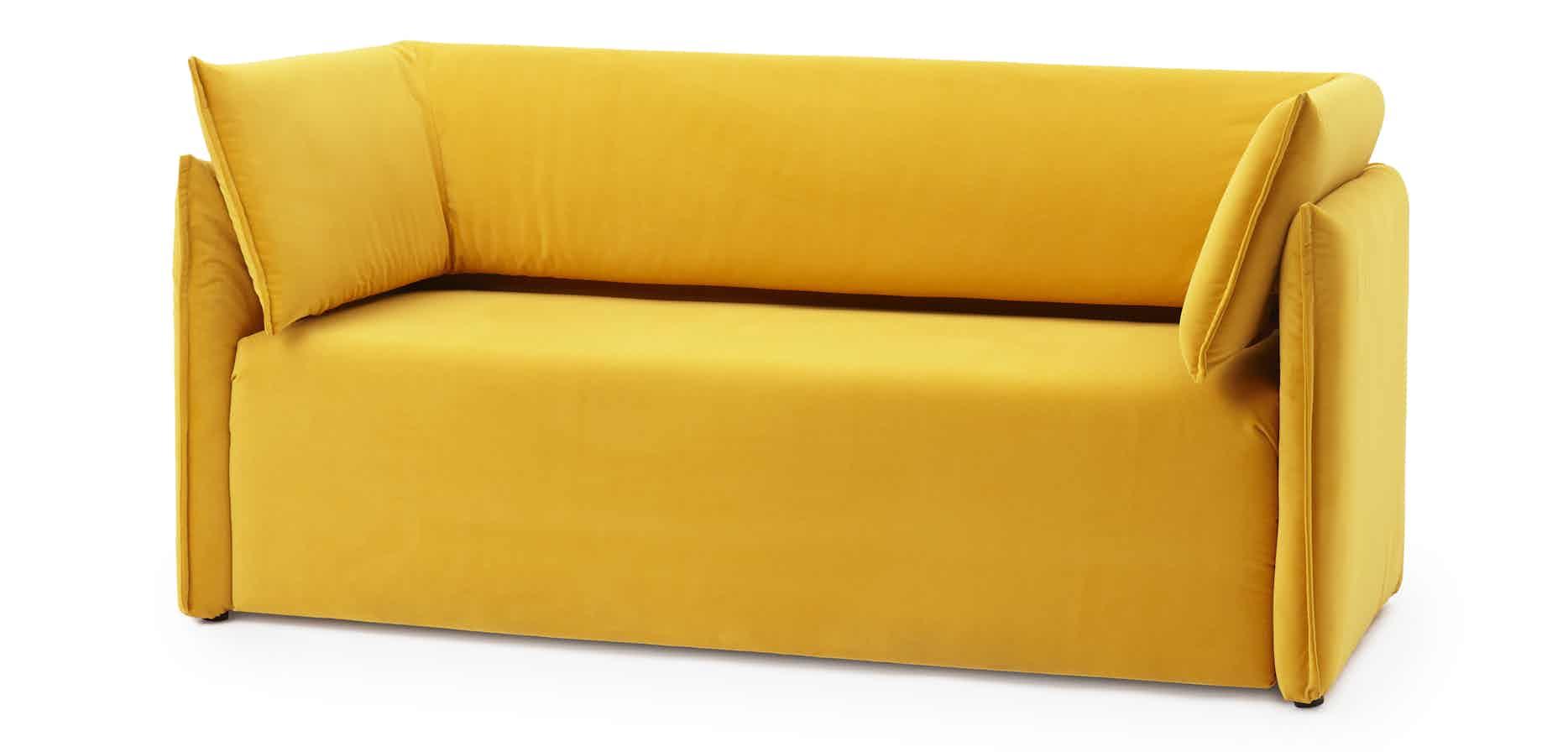 Articles-furniture-yellow-boxlike-sofa-haute-living