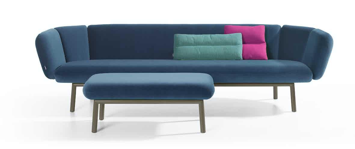 Artifort Blue Bras Sofa Ottoman