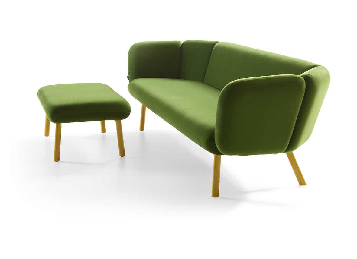 Artifort Green Bras Sofa Side Ottoman
