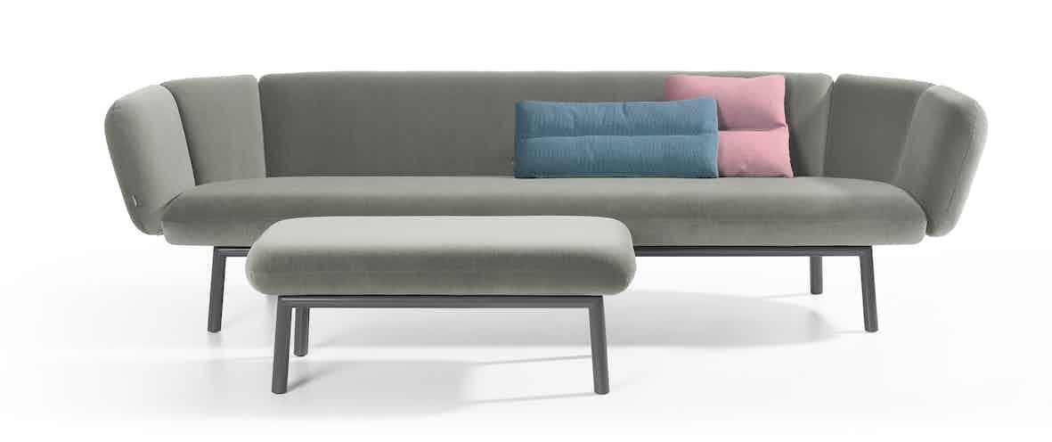 Artifort Grey Bras Sofa Ottoman