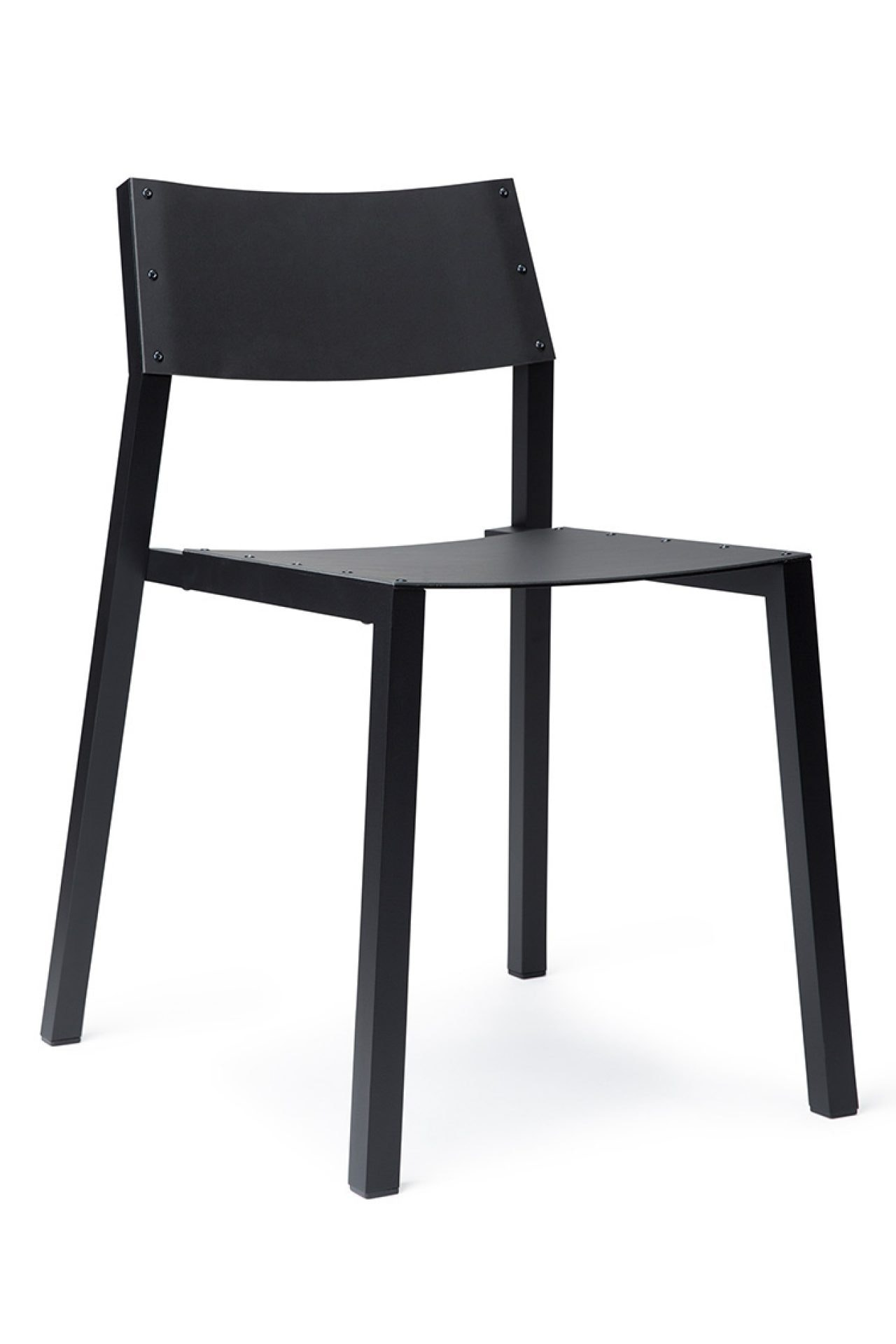 Tube Chair Black Black Side Angle