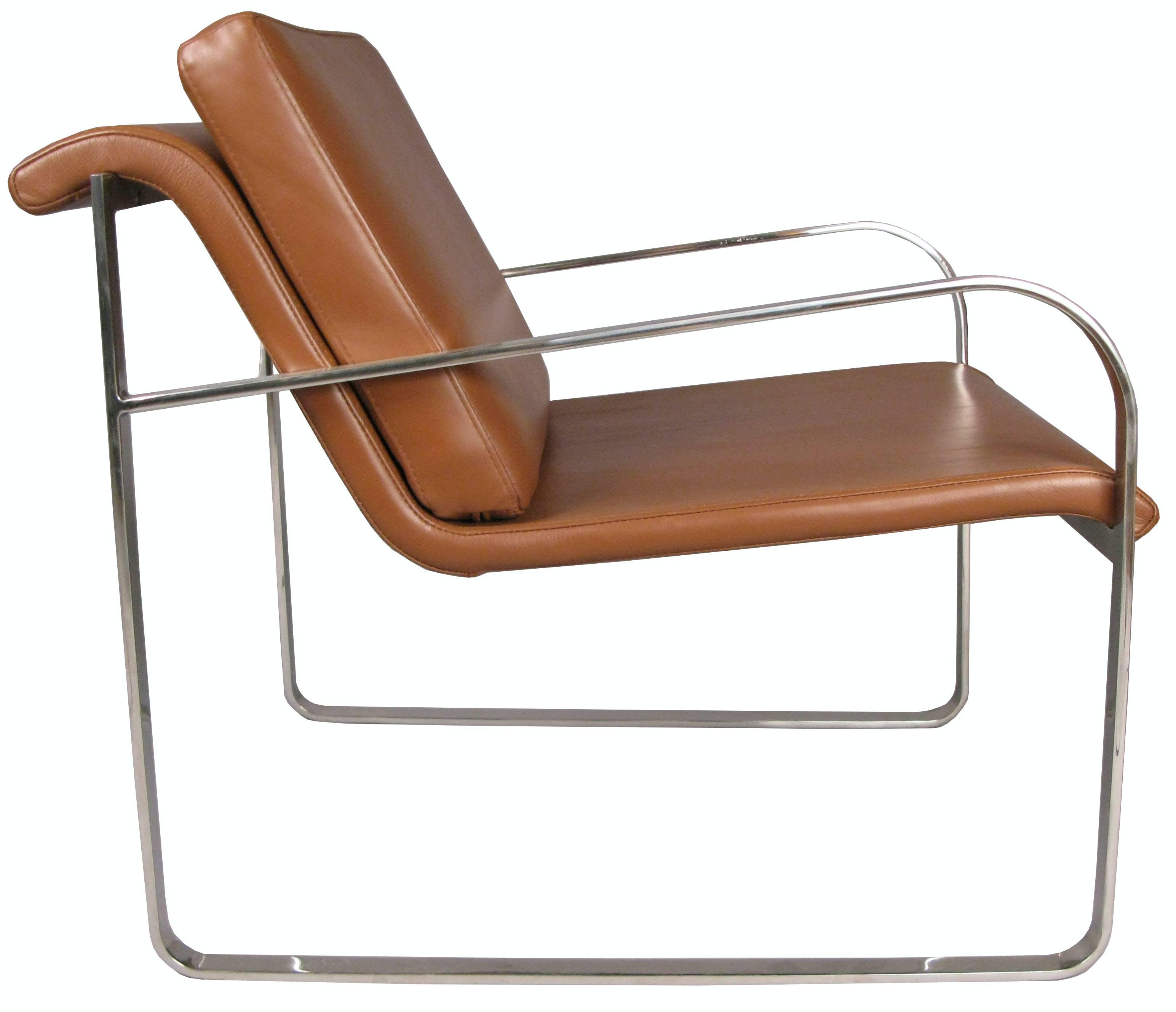 Sovet Bugatti Chair Brown Leather Thumbnail