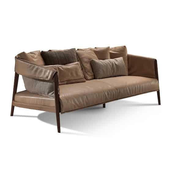 Frigerio Burton Sofa Side Haute Living
