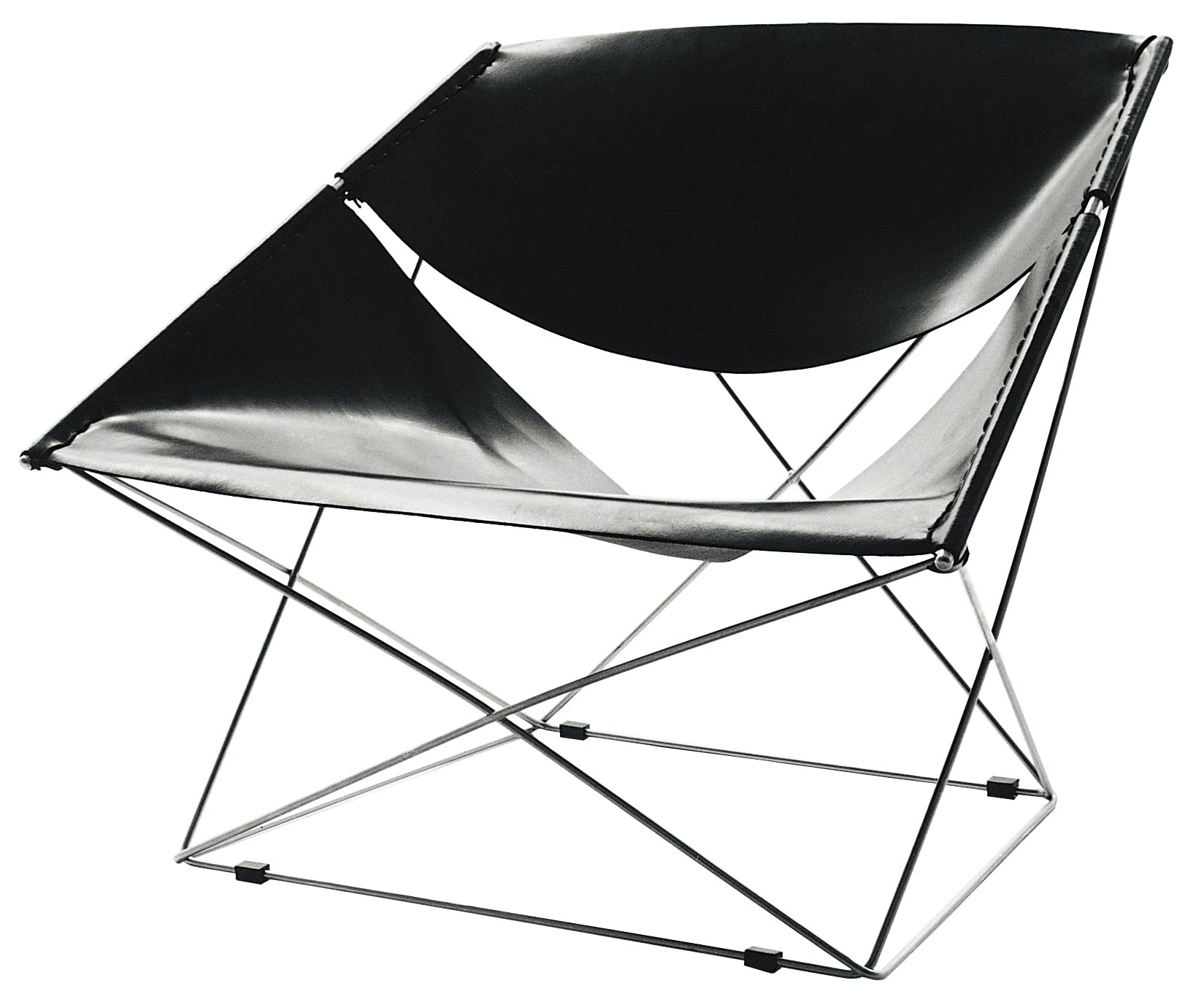 Artifort Black Butterfly Chair Angle Thumbnail