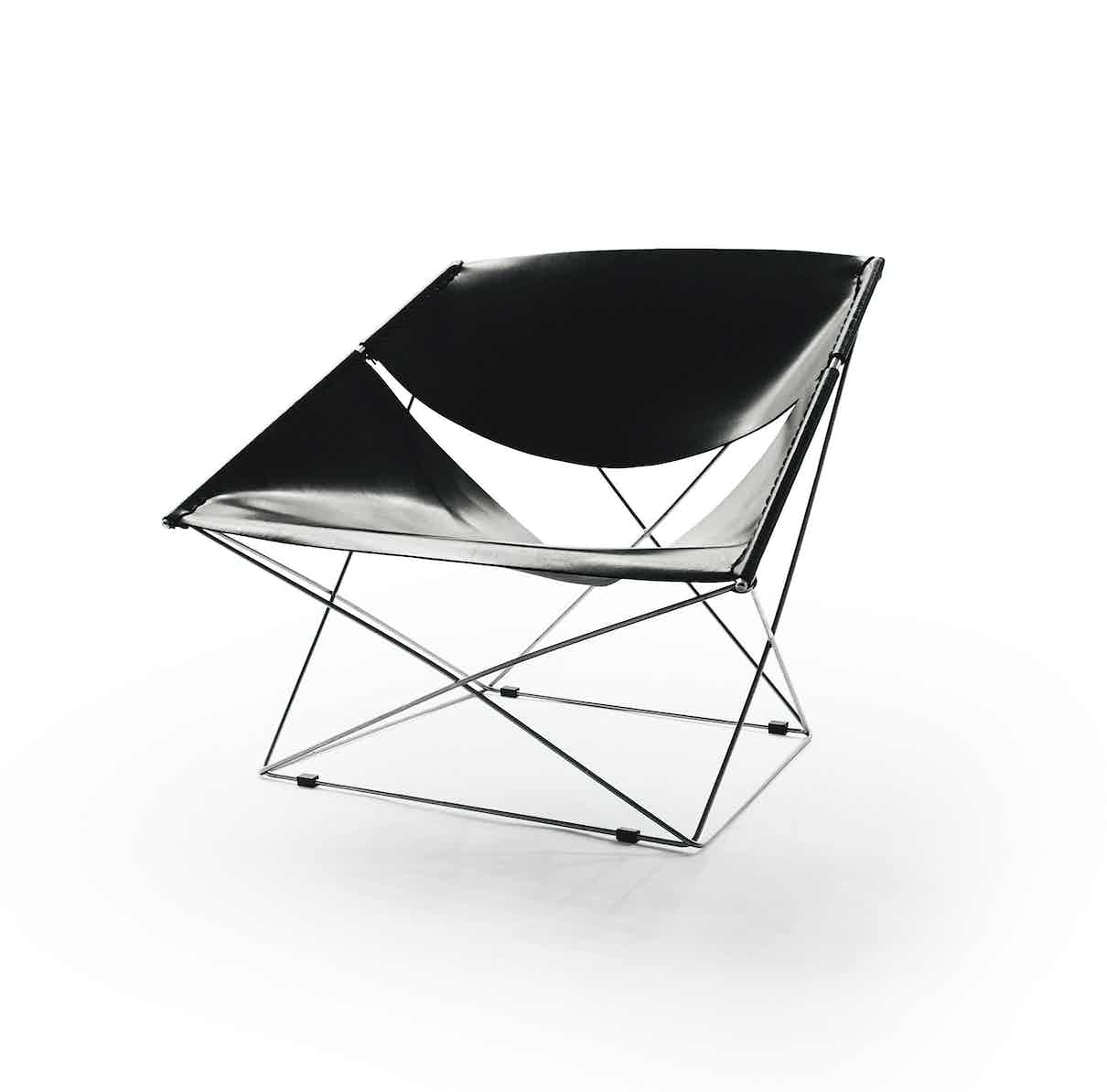 Artifort Black Butterfly Chair Angle