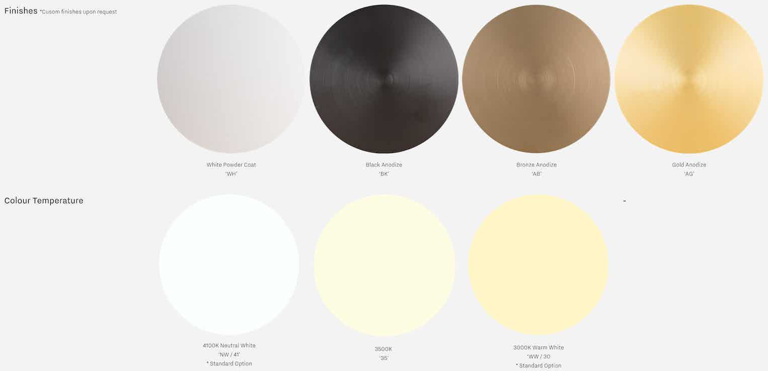 Andlight Button 90 Pendant Finishes Haute Living