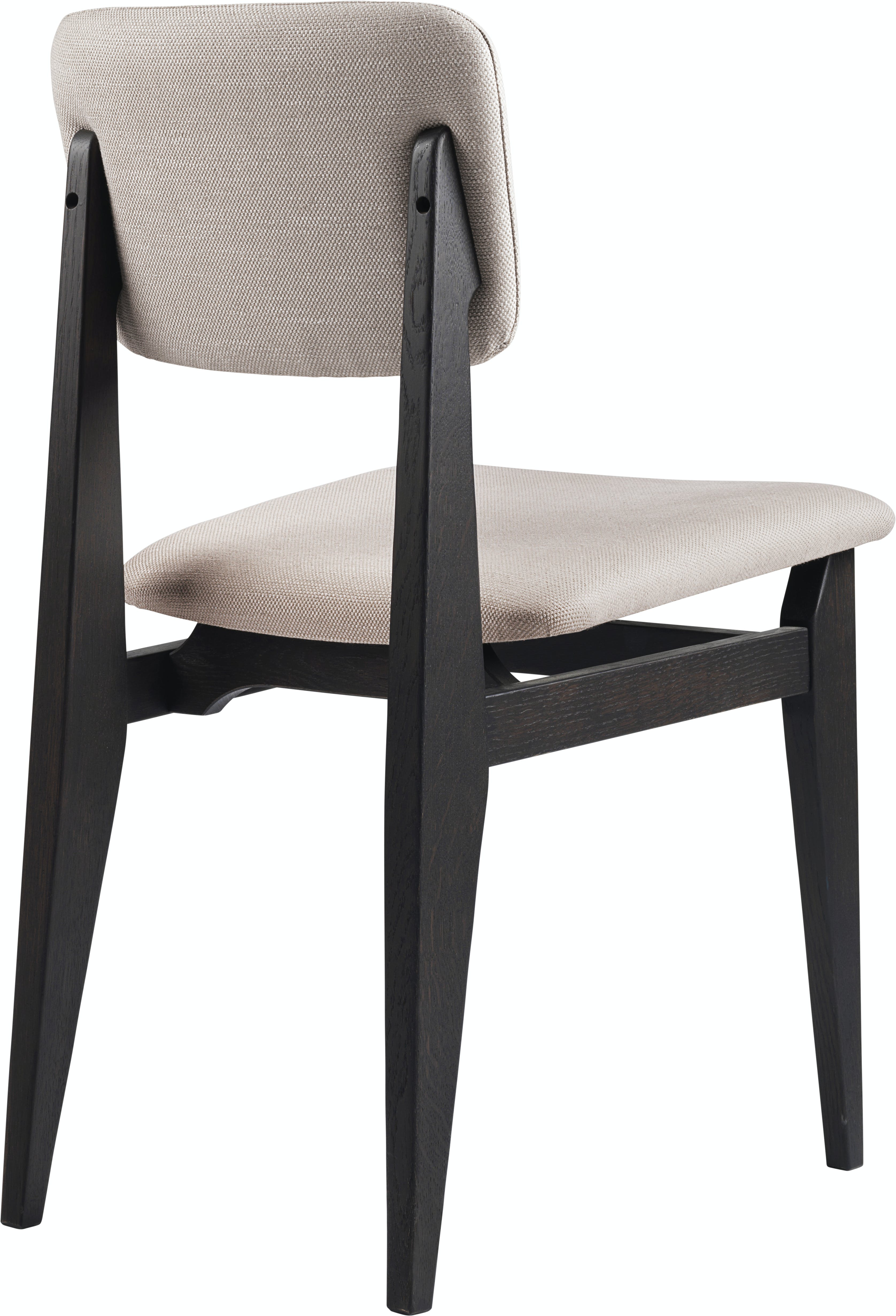 C Chair Dining Chair Wood Fully Upholstered Brown Black Stained Oak Dedar Sinequanon 030 Ficelle B3 Q