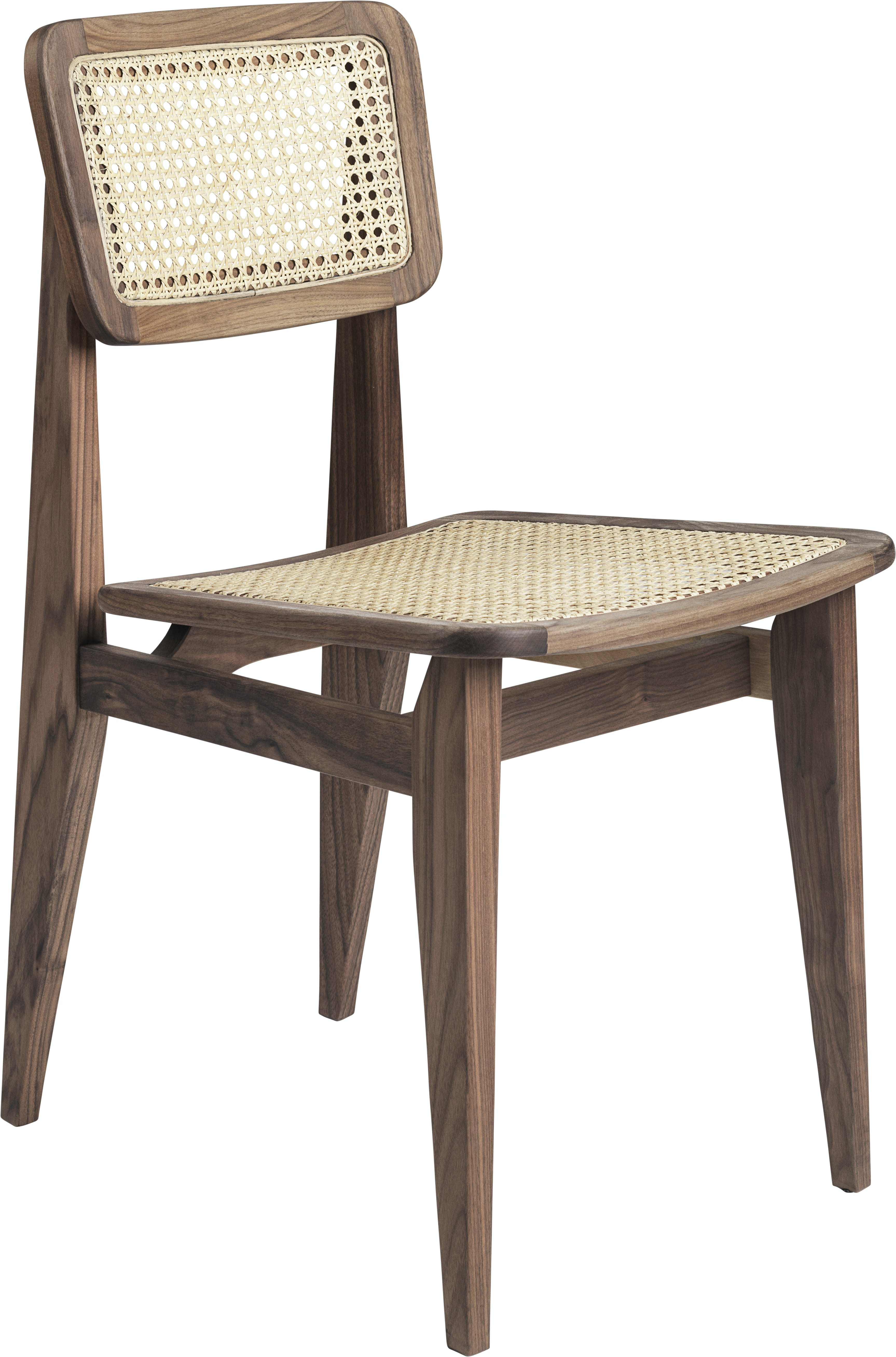C Chair Dining Chair Wood Unupholstered French Cane American Walnut F3 Q