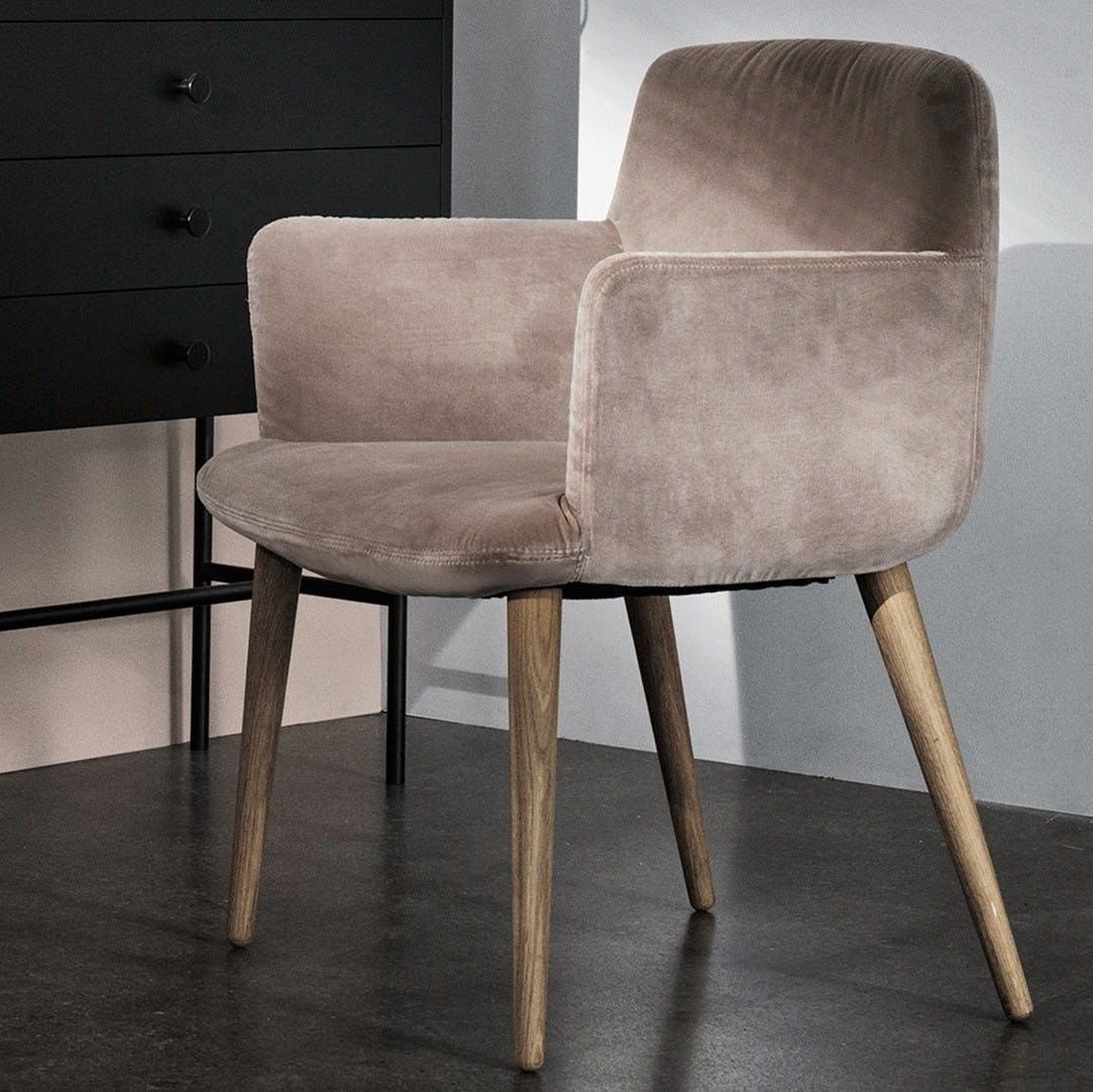 Bolia Suede C3 Dining Chair Haute Living