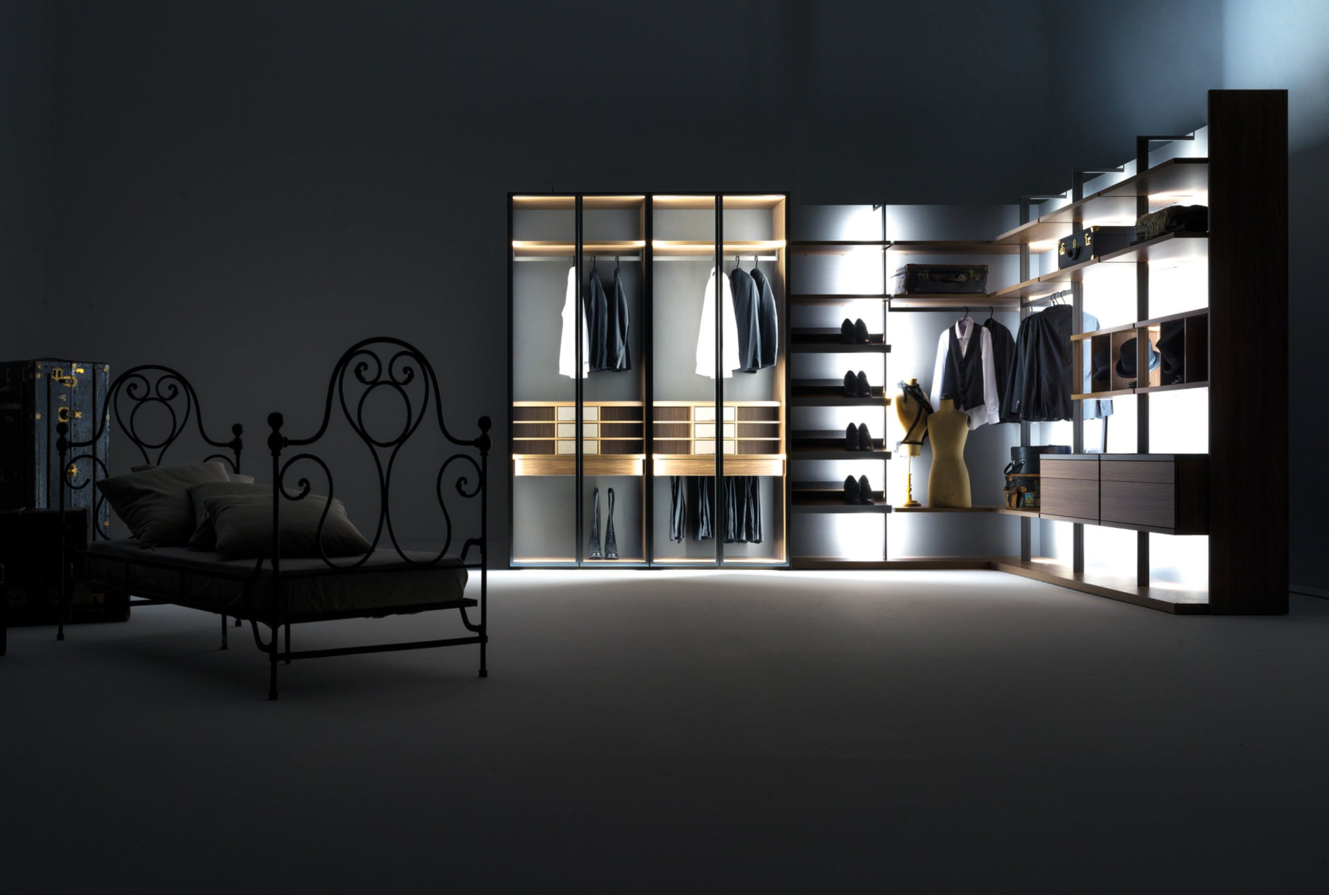 Caccaro Cabina Module Dresser Lighting Haute Living