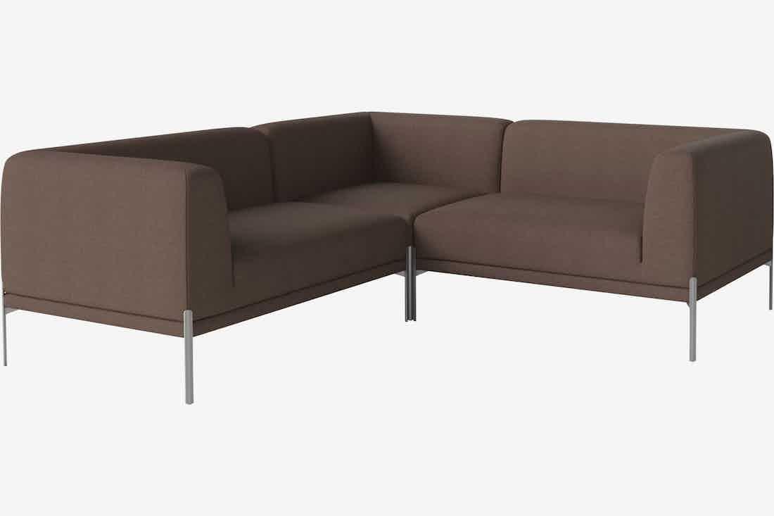 Bolia caisa modular sofa brown haute living