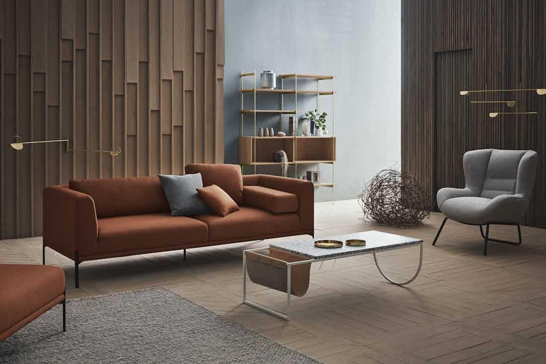 Bolia caisa sofa orang insitu haute living
