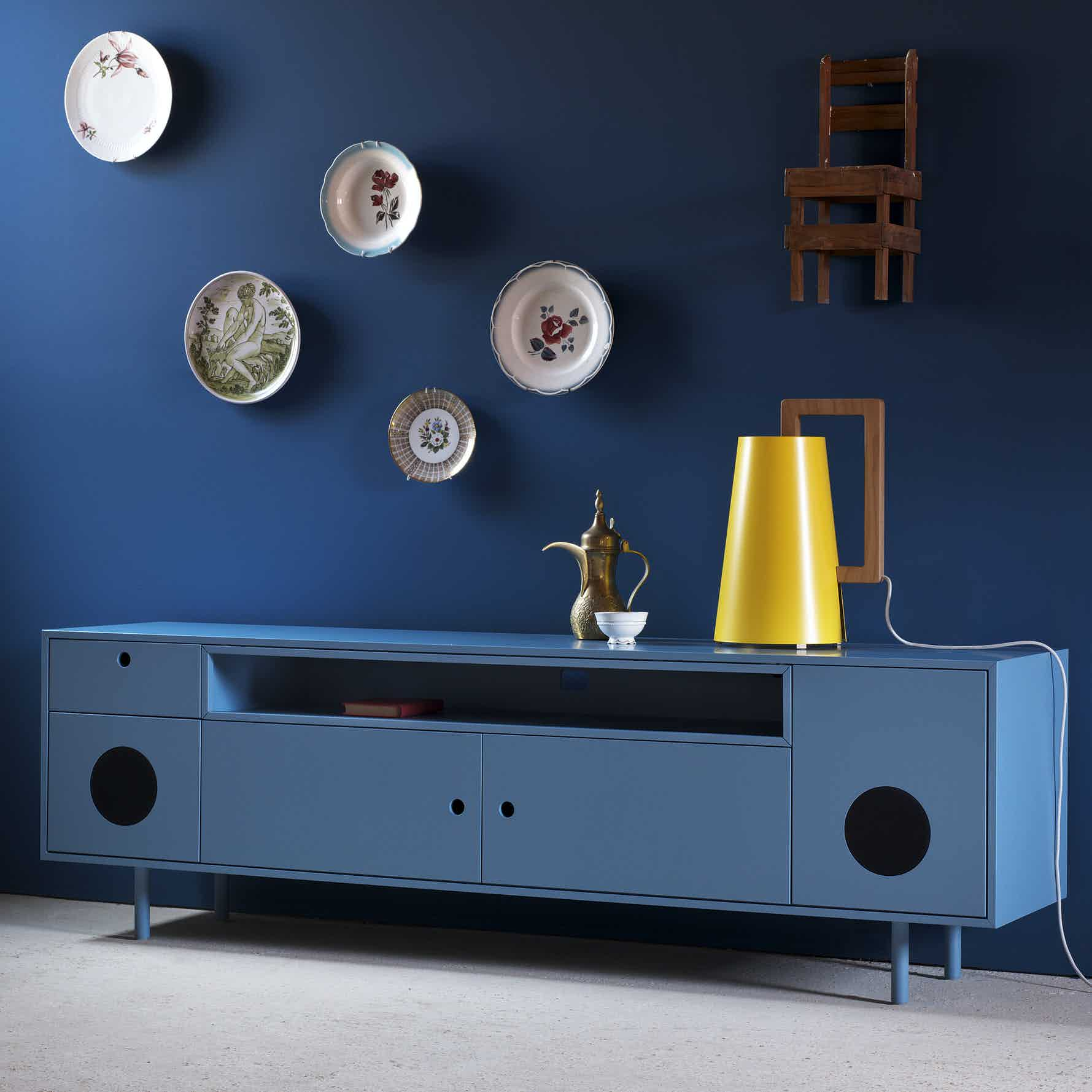 Miniforms Caixa Sideboard Blue Angle Haute Living
