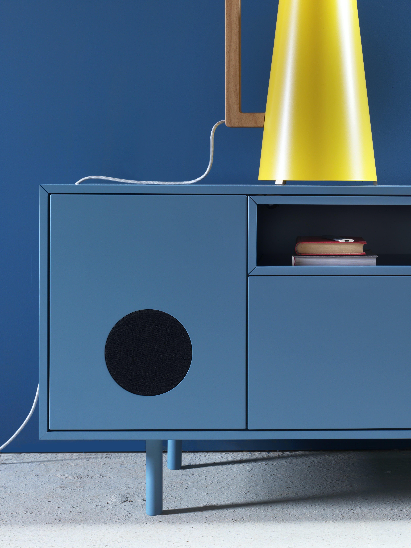 Miniforms Caixa Sideboard Blue Speaker Haute Living