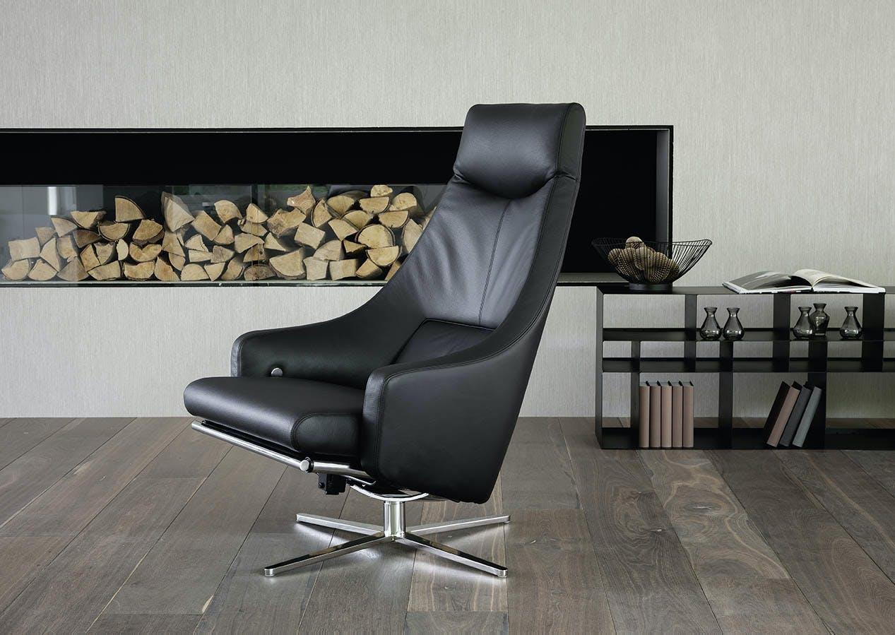 Jab Anstoetz Black Leather Cane Armchair Haute Living