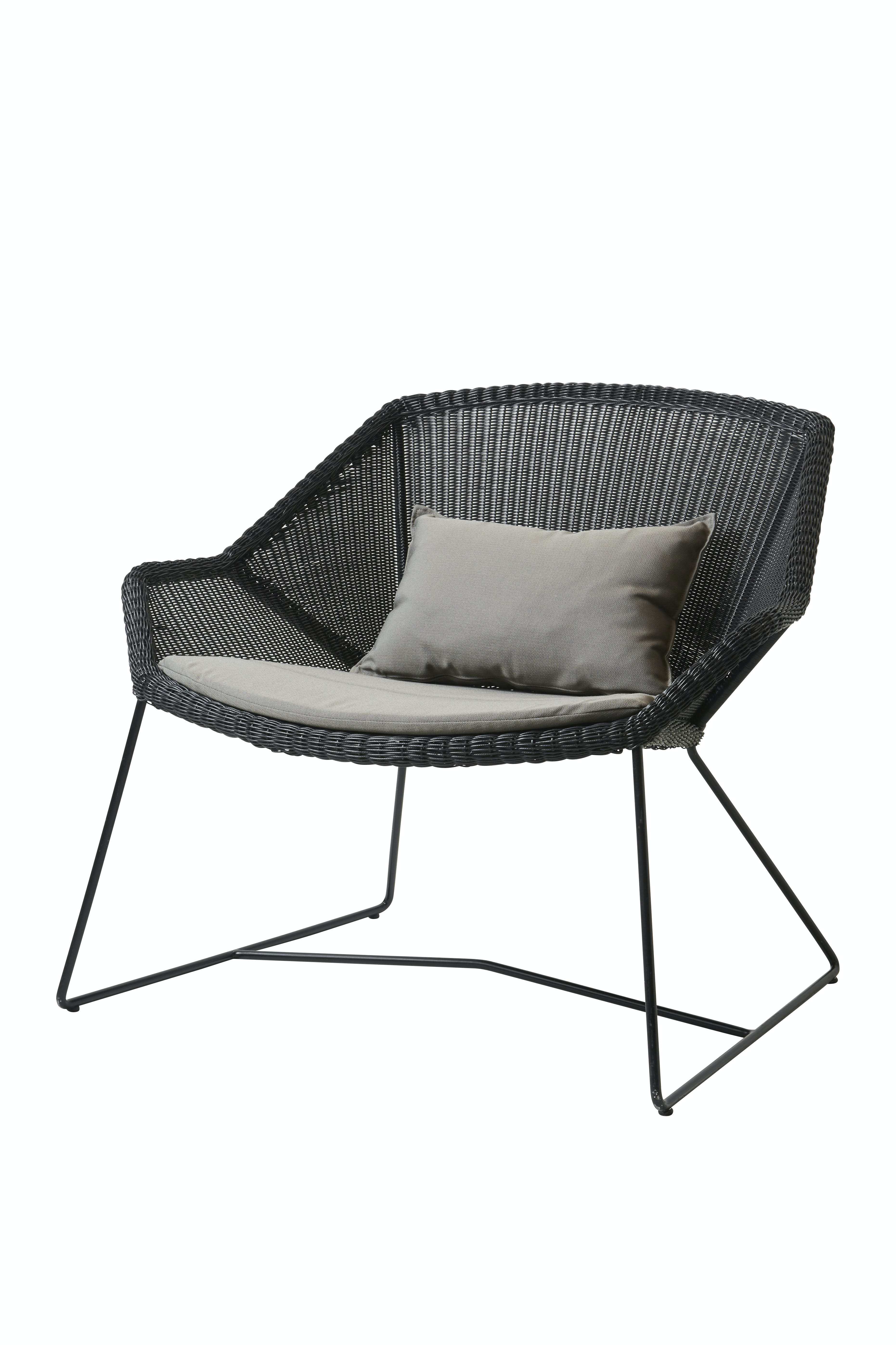 Breeze Lounge Chair Black Taupe Y36