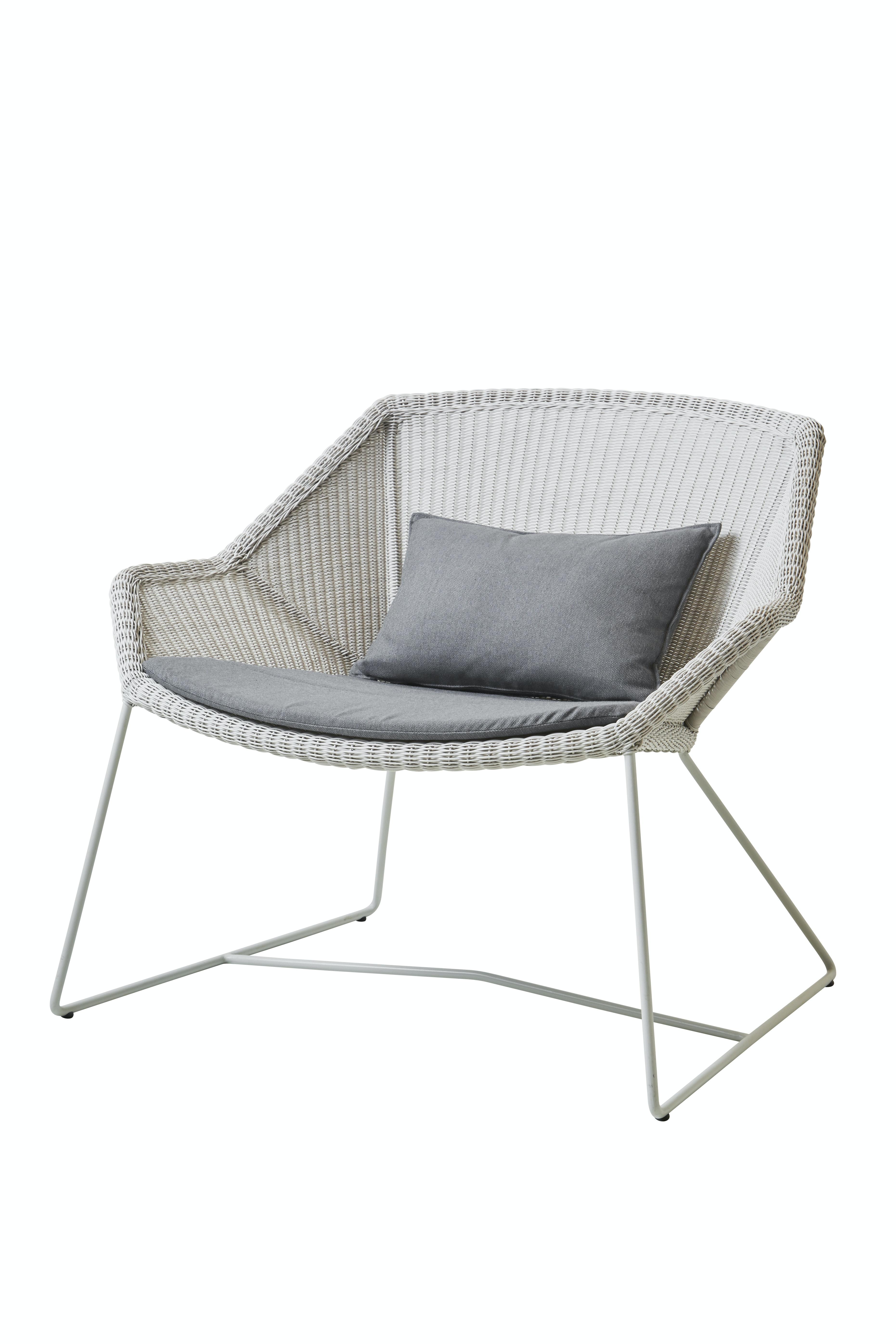 Breeze Lounge Chair White Grey Grey Ysn95